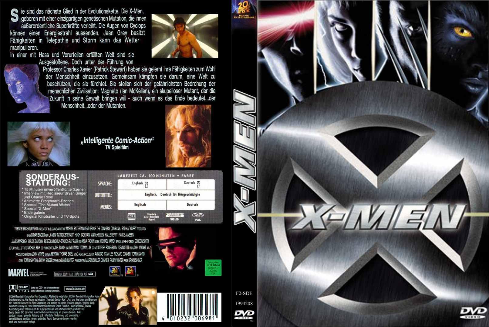 X Men Dvd Cover: COVERS.BOX.SK ::: X-Men (2000)