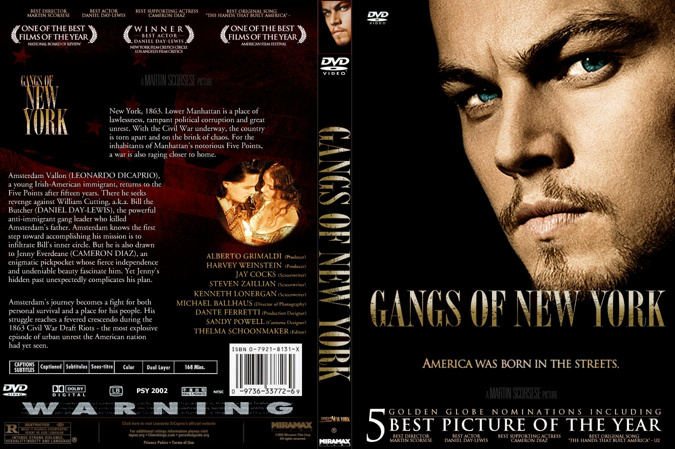 Covers Box Sk Gangs Of New York 2002 High Quality Dvd