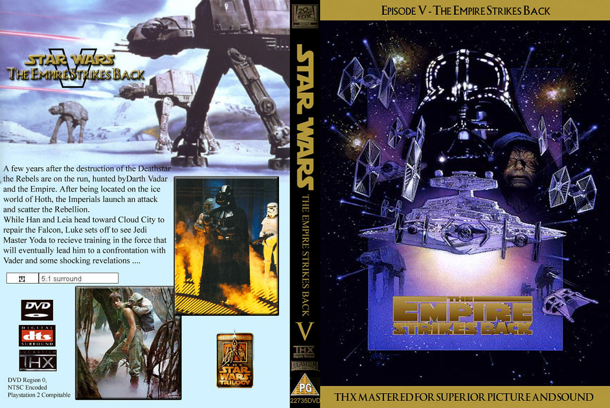 Covers Box Sk Star Wars Episode V The Empire Strikes Back 1980 High Quality Dvd Blueray Movie