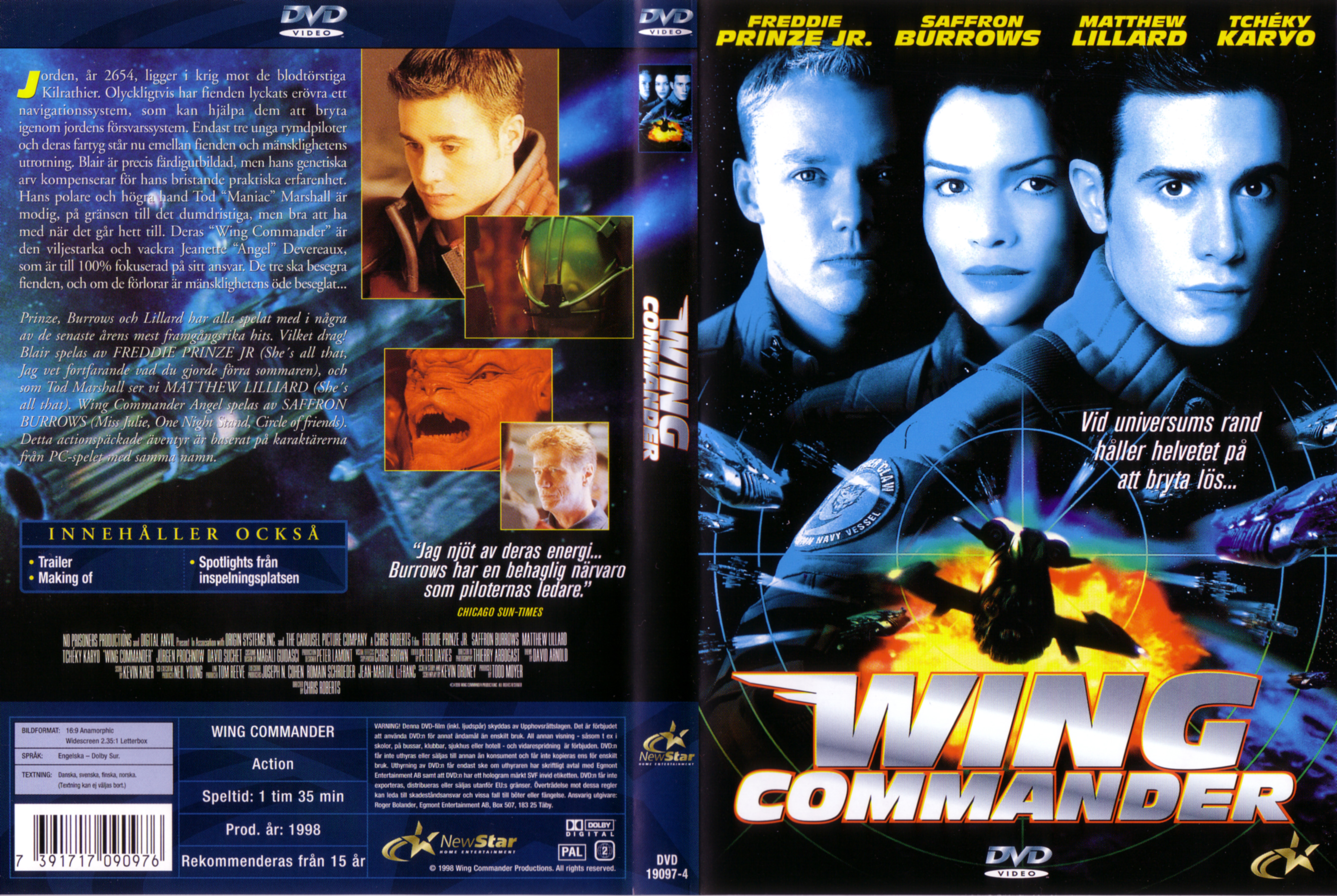 Covers Box Sk Wing Commander 1999 High Quality Dvd