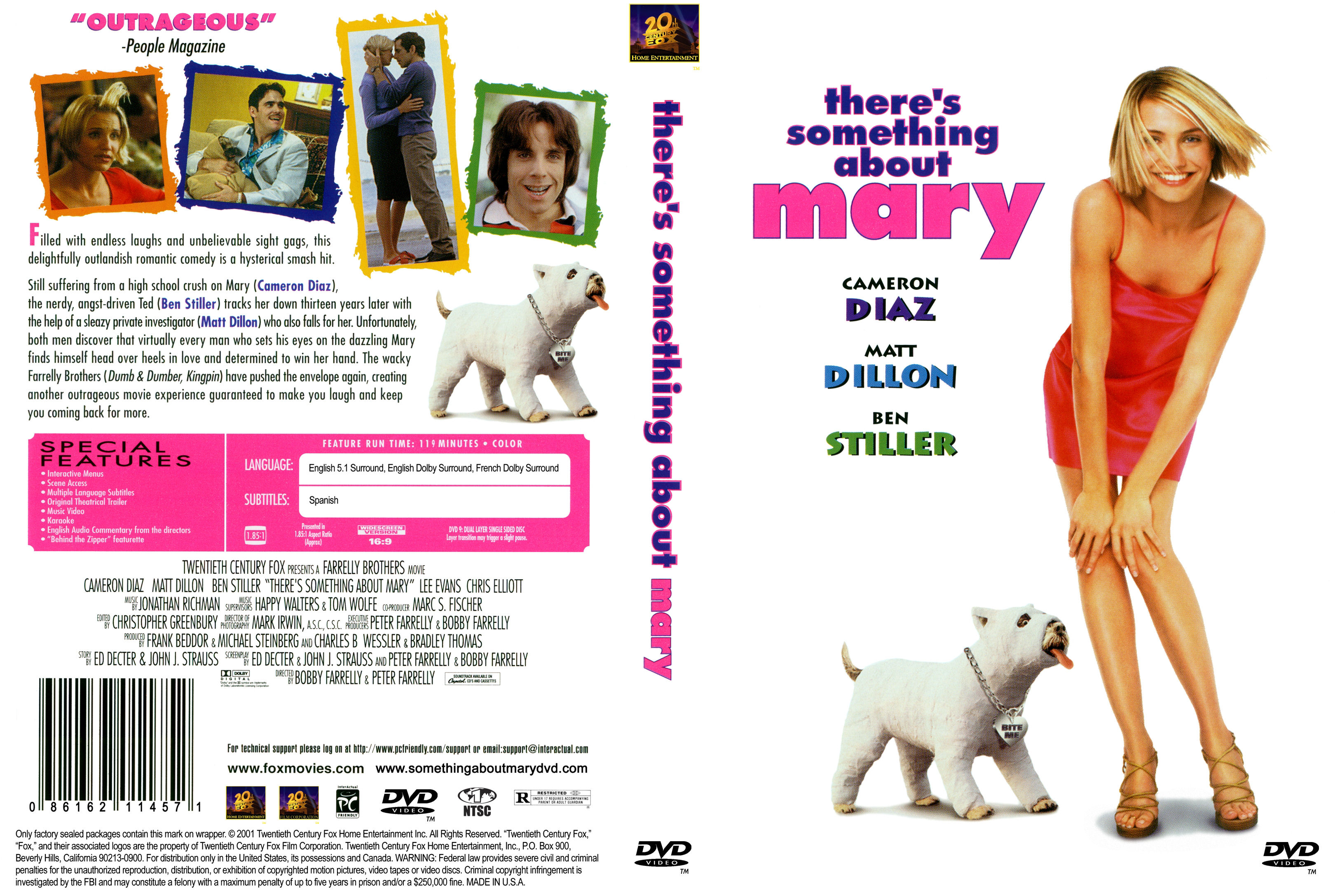 Covers Box Sk There S Something About Mary 1998 High Quality Dvd Blueray Movie