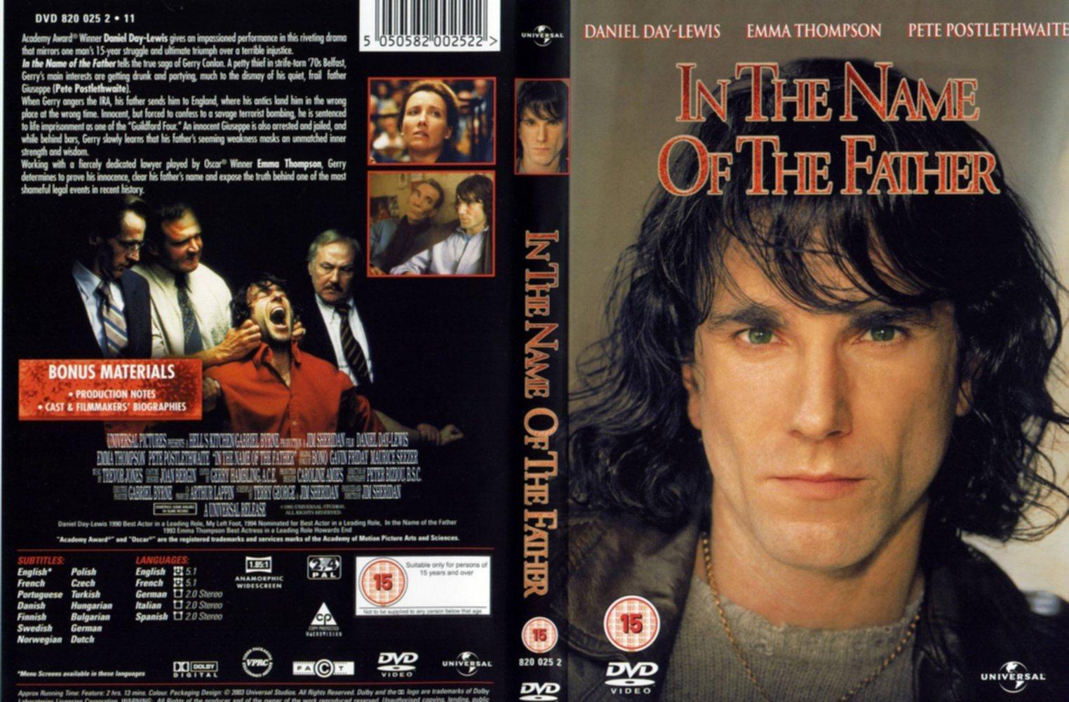 a movie review on in the name of the father In the name of the father is a visual text directed by jim sheridan and was released in 1993 i will be discussing how film techniques such as visual and verbal feature are used in a particular scene from the movie and how it engages the audience's emotions.