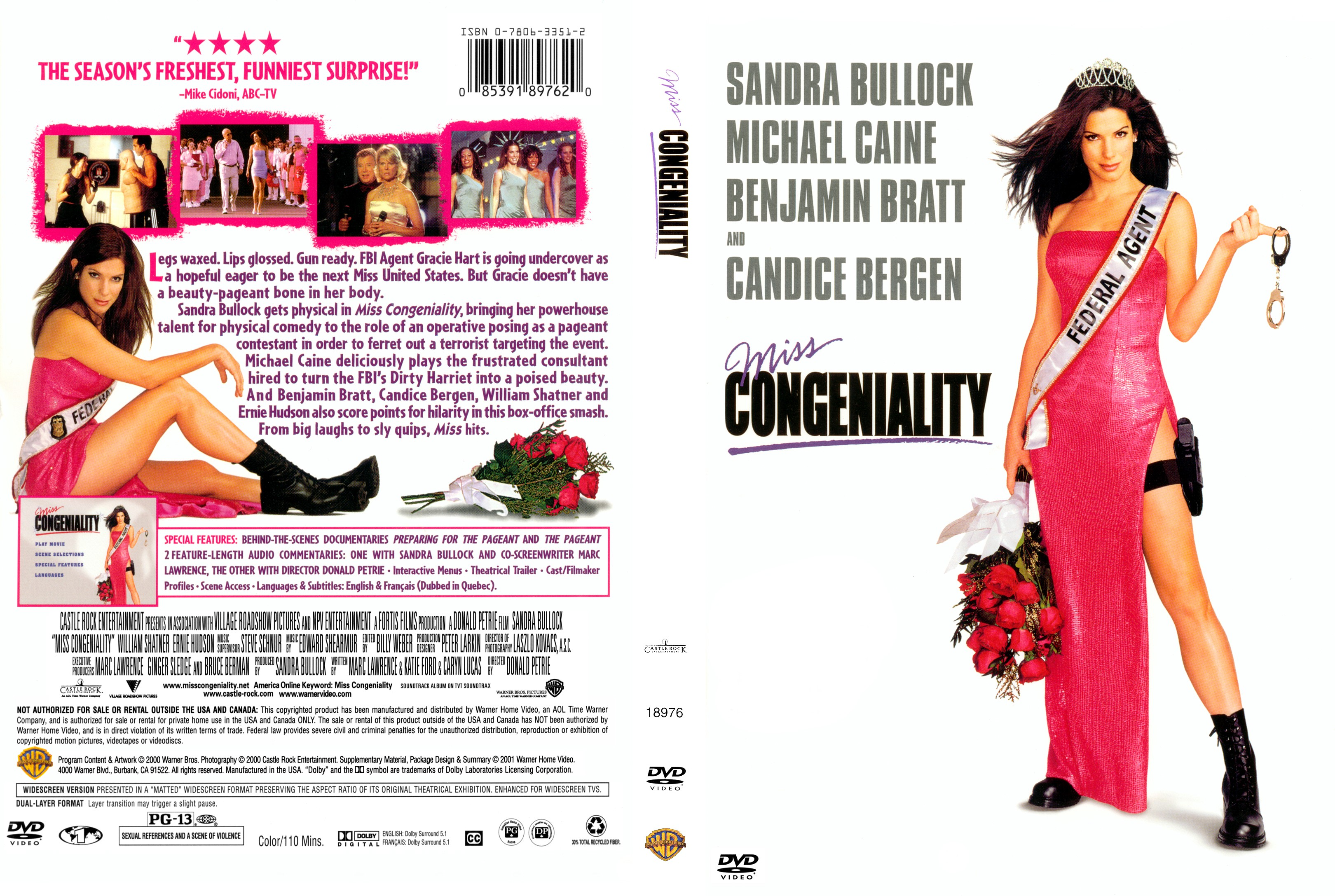 Covers Box Sk Miss Congeniality 2000 High Quality Dvd Blueray Movie