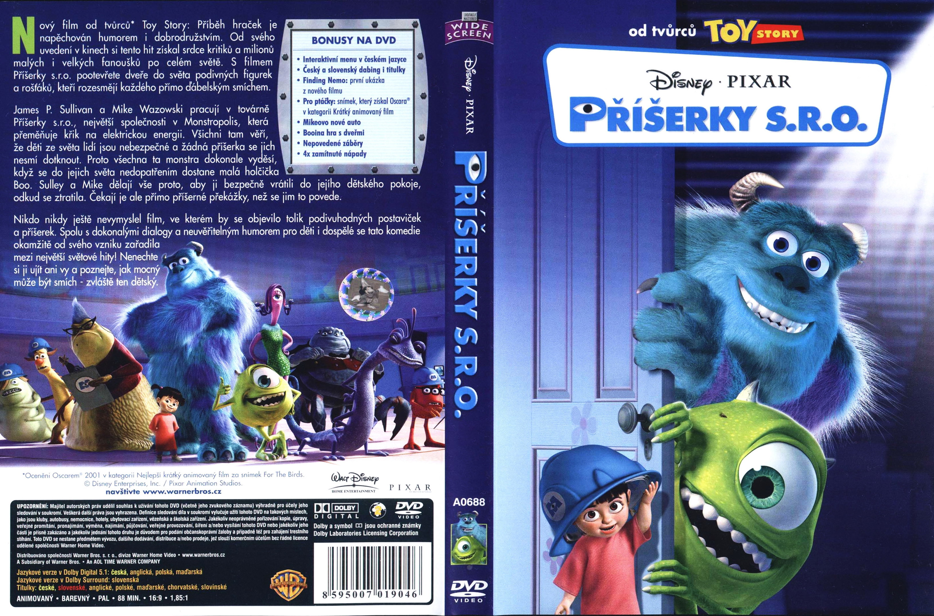 COVERS.BOX.SK ::: Monsters Inc.