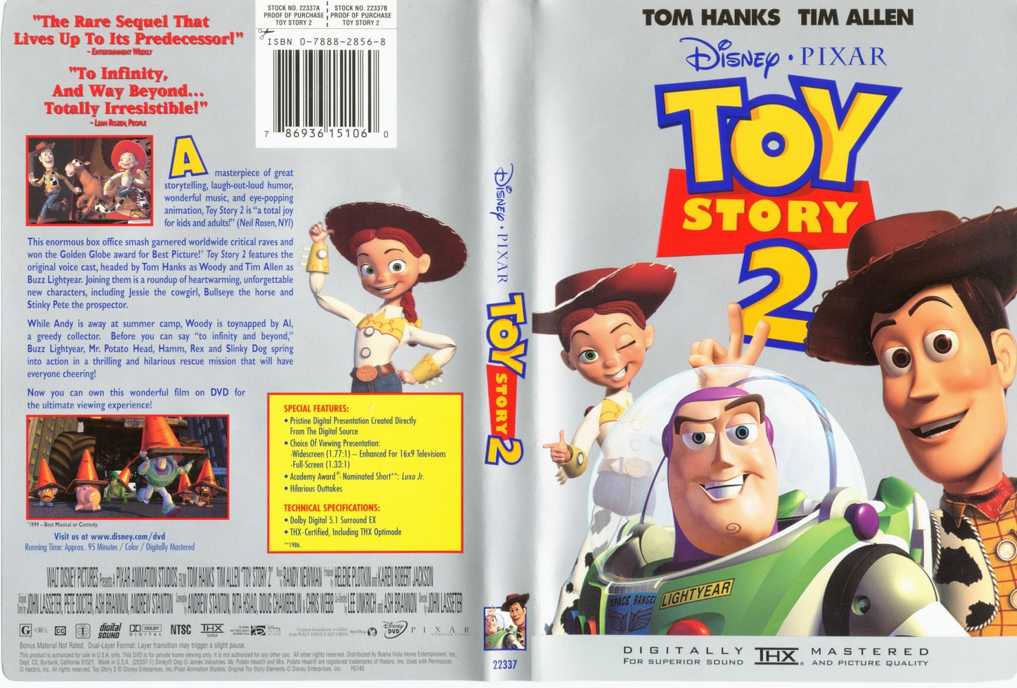 Covers box sk toy story 2 1999 high quality dvd for Toy story 5 portada