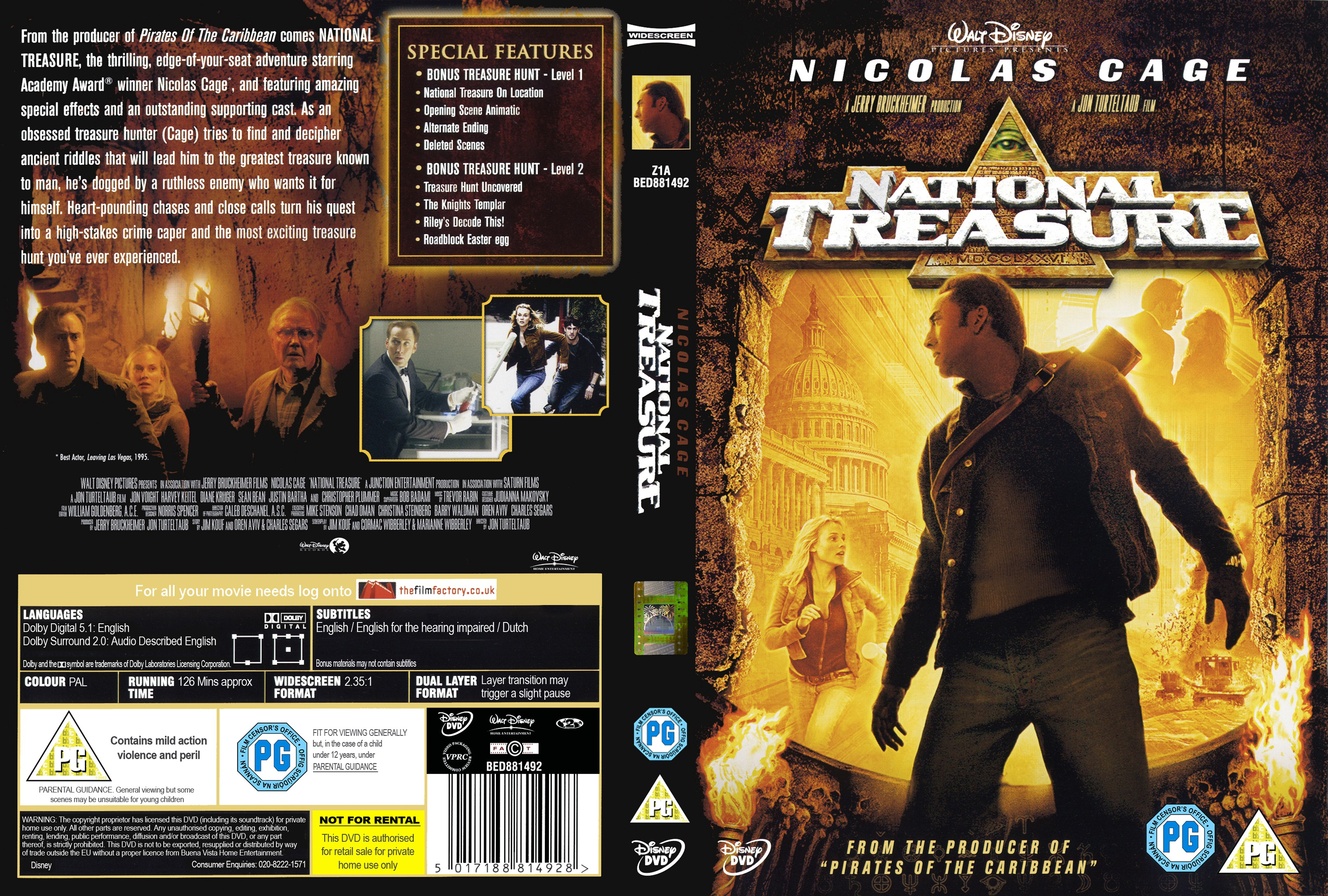 Covers Box Sk National Treasure 2004 High Quality Dvd Blueray Movie