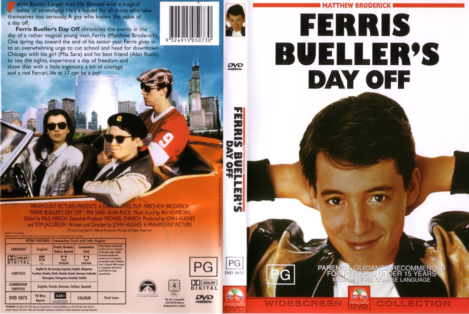 an analysis of ferris buellers day off in the summer of 1986 Ferris bueller's day off feels like the grand finale after sixteen candles (1984), weird science (1985), the breakfast club (1985) and pretty in pink (1986), marking the end of the teenage innocence before hughes moved onto planes, trains and automobiles (1987), christmas vacation (1989) and home alone (1990.