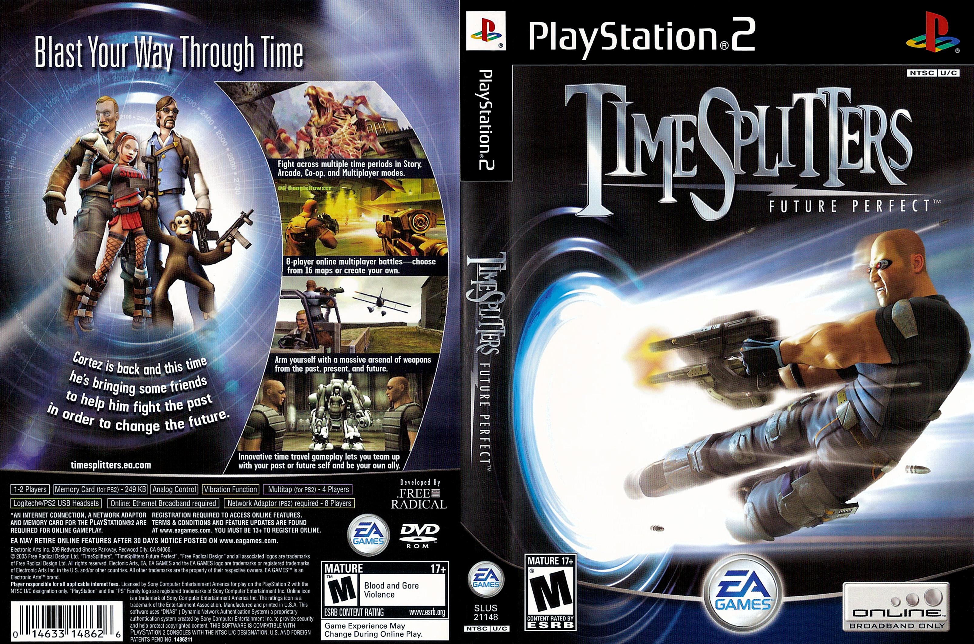 TimeSplitters: Future Perfect Game   PS2 - PlayStation