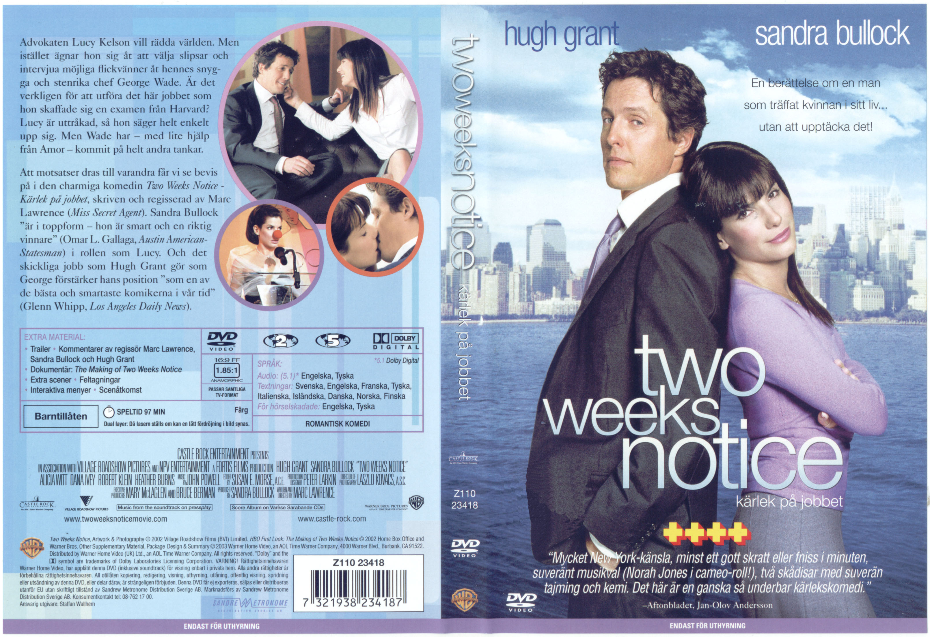 Covers Box Sk Two Weeks Notice 2002 High Quality Dvd Blueray Movie