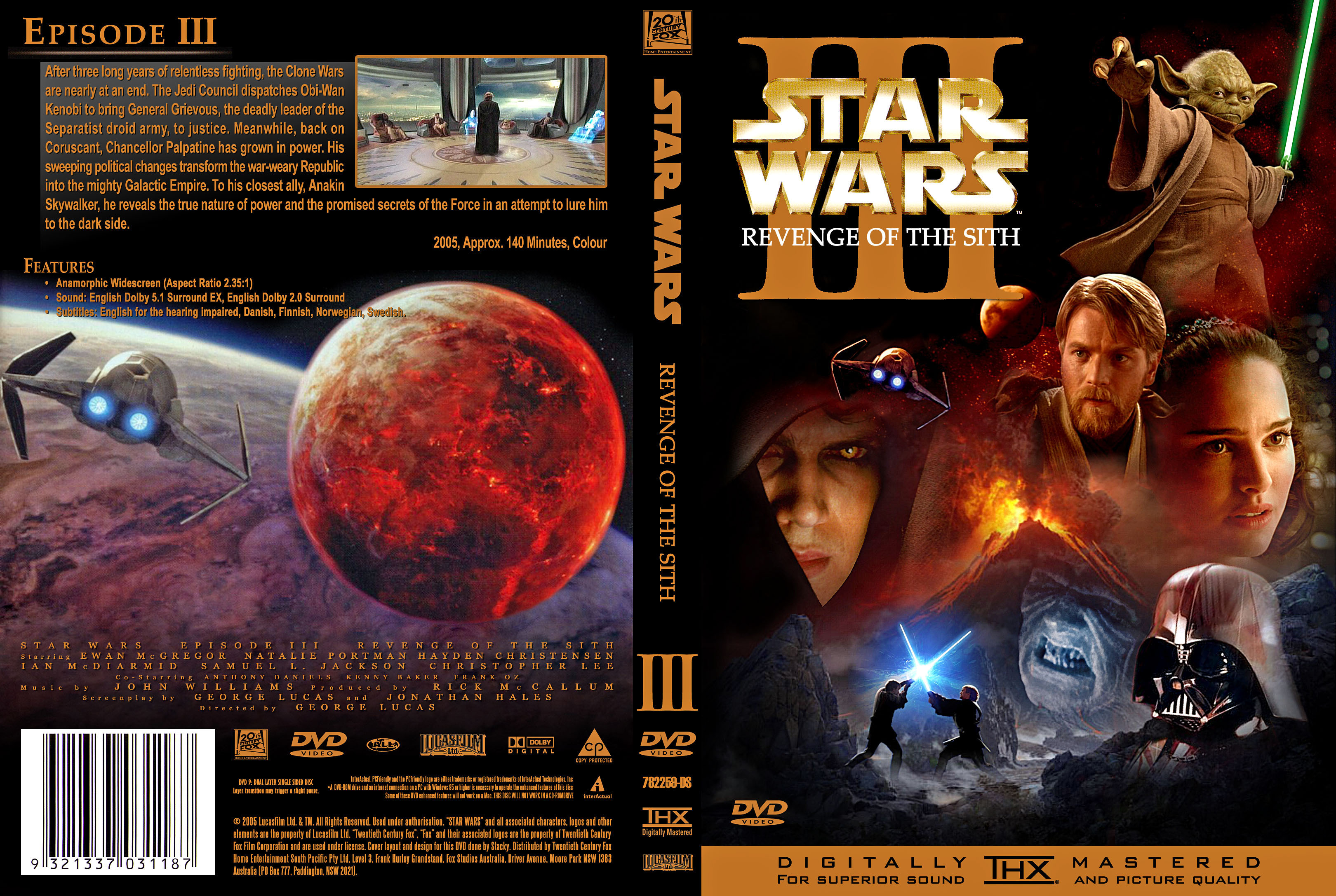 Covers Box Sk Star Wars Iii Revenge Of The Sith High Quality Dvd Blueray Movie