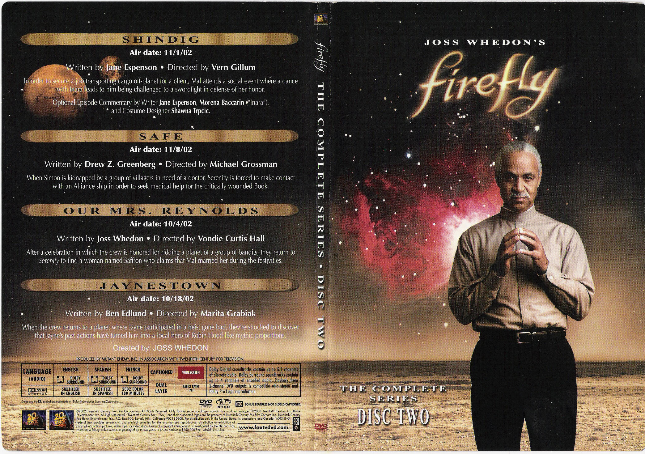 COVERS BOX SK ::: Firefly ( 2002 TV series ) Disc 2 - high quality