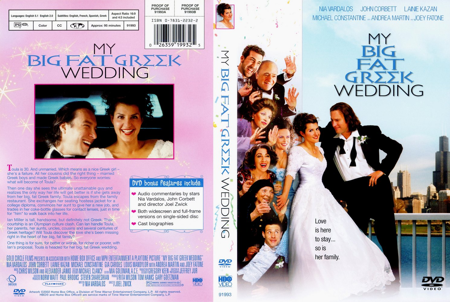 Covers Box Sk My Big Fat Greek Wedding Front High Quality Dvd Blueray Movie