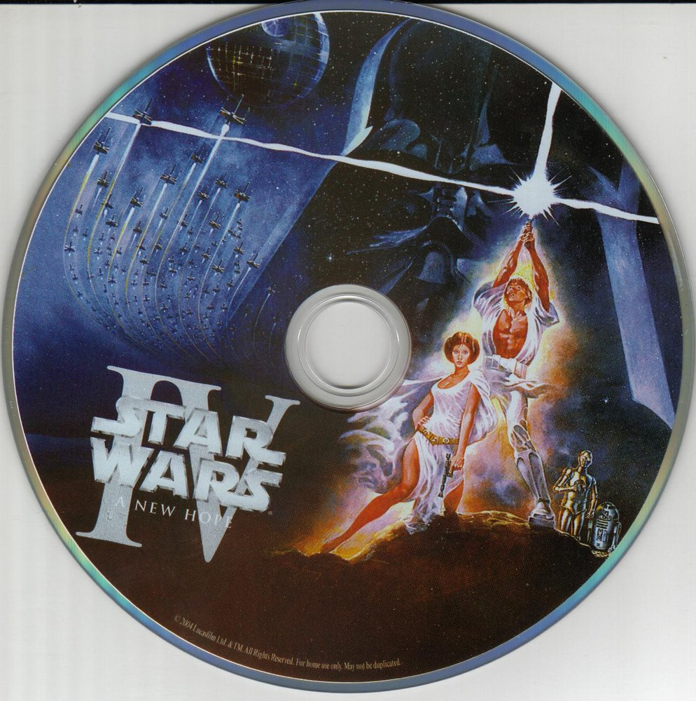 Covers Box Sk Star Wars Episode Iv Disk Image English High Quality Dvd Blueray Movie