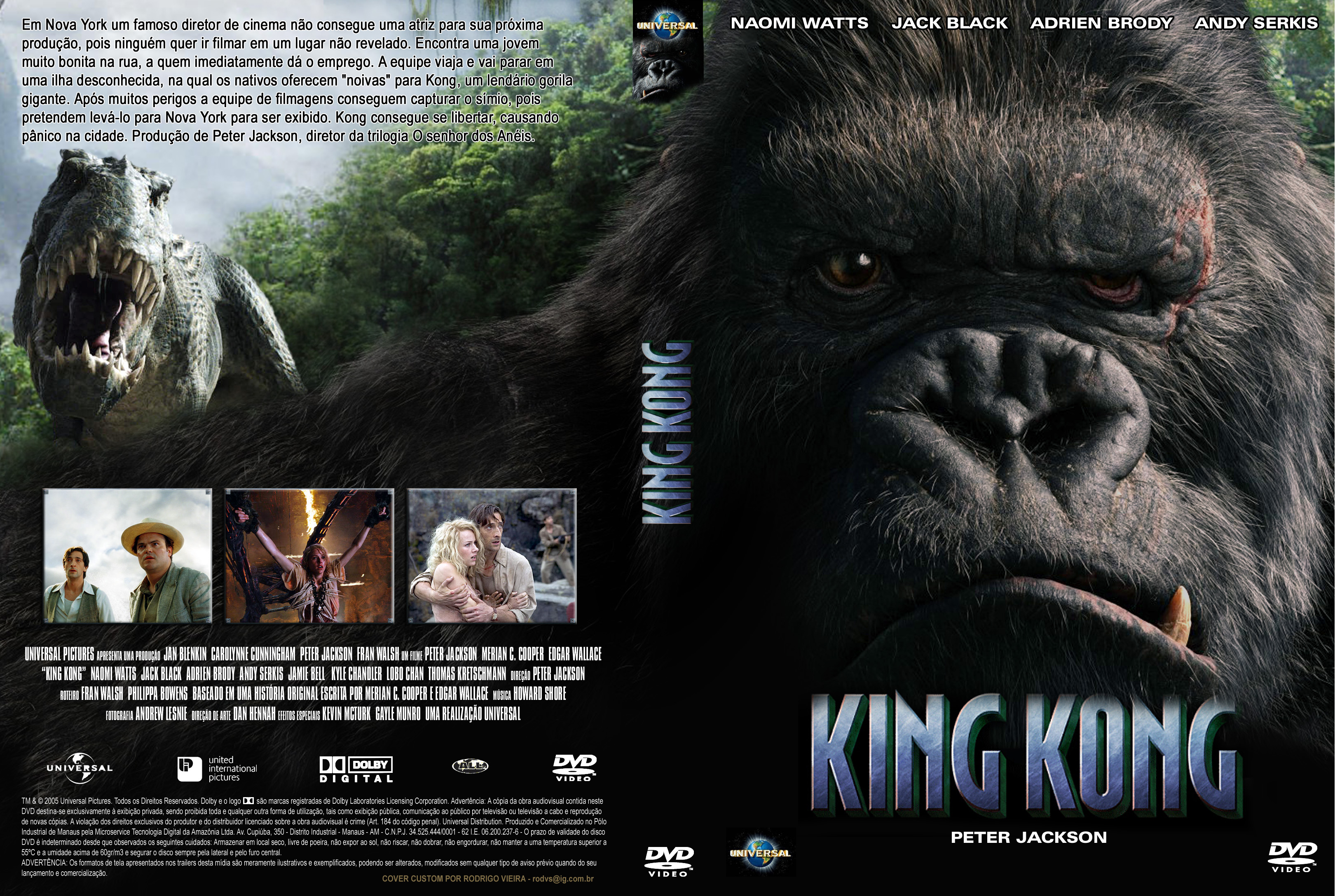 Coversboxsk King Kong 2005 High Quality Dvd Blueray Movie