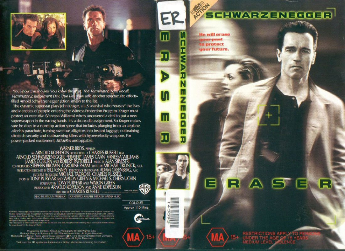 Covers Box Sk Eraser 1996 High Quality Dvd Blueray Movie