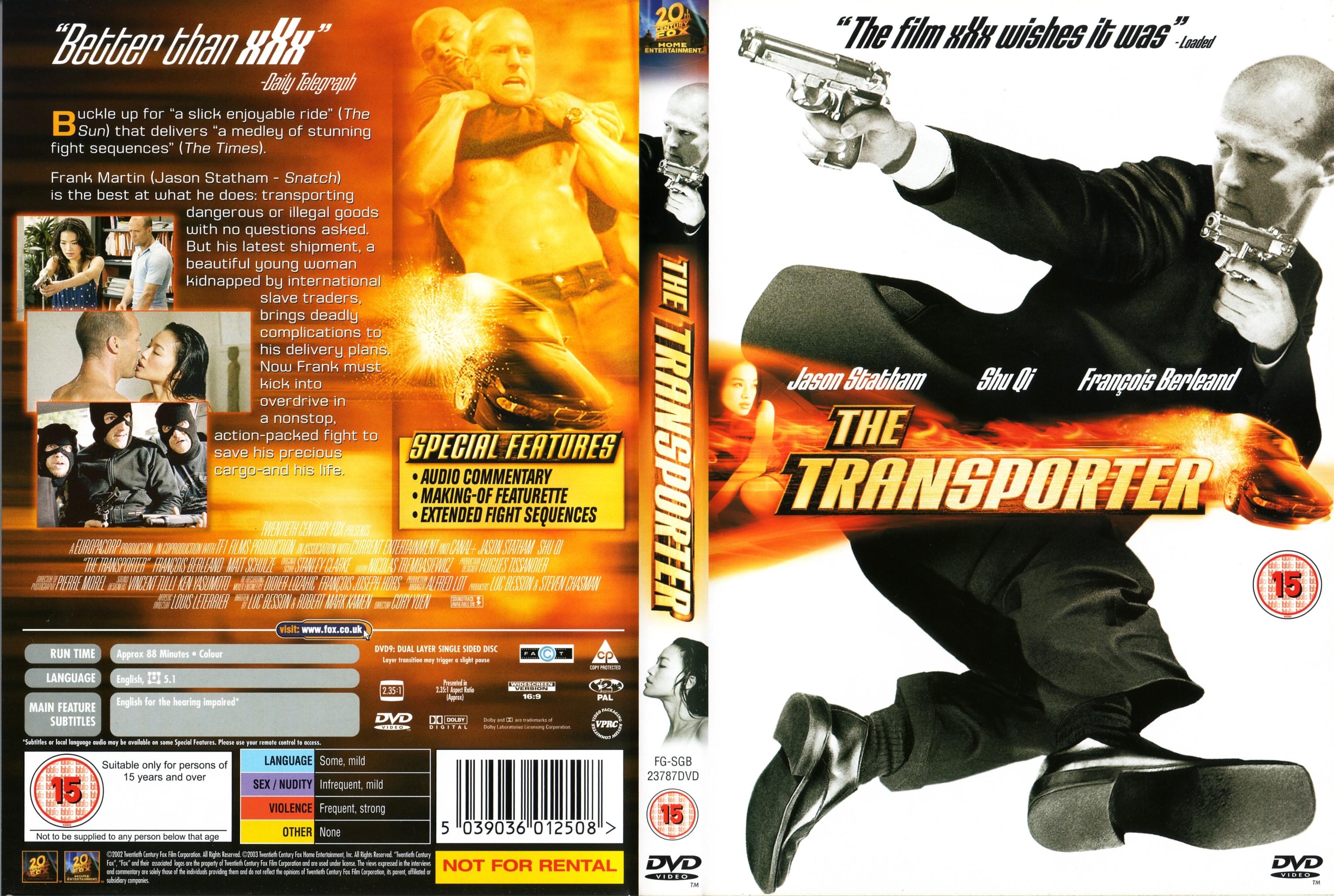 Transporter 2 British dvd cover |Transporter 2 Dvd Cover