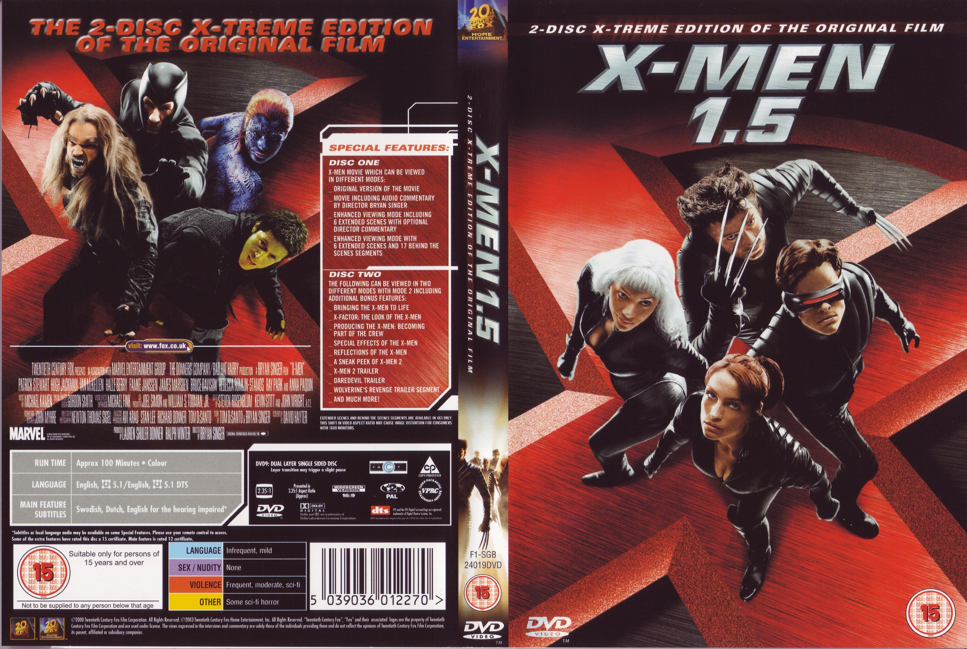 X Men Dvd Cover: COVERS.BOX.SK ::: X Men 1.5