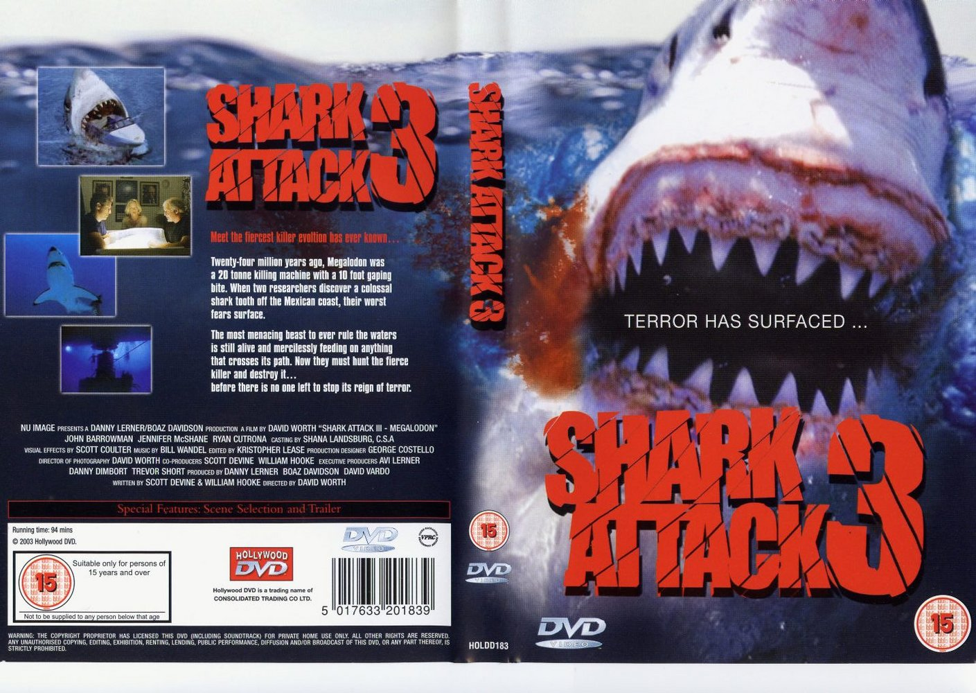COVERS.BOX.SK ::: Shark attack 3 - high quality DVD / Blueray / Movie