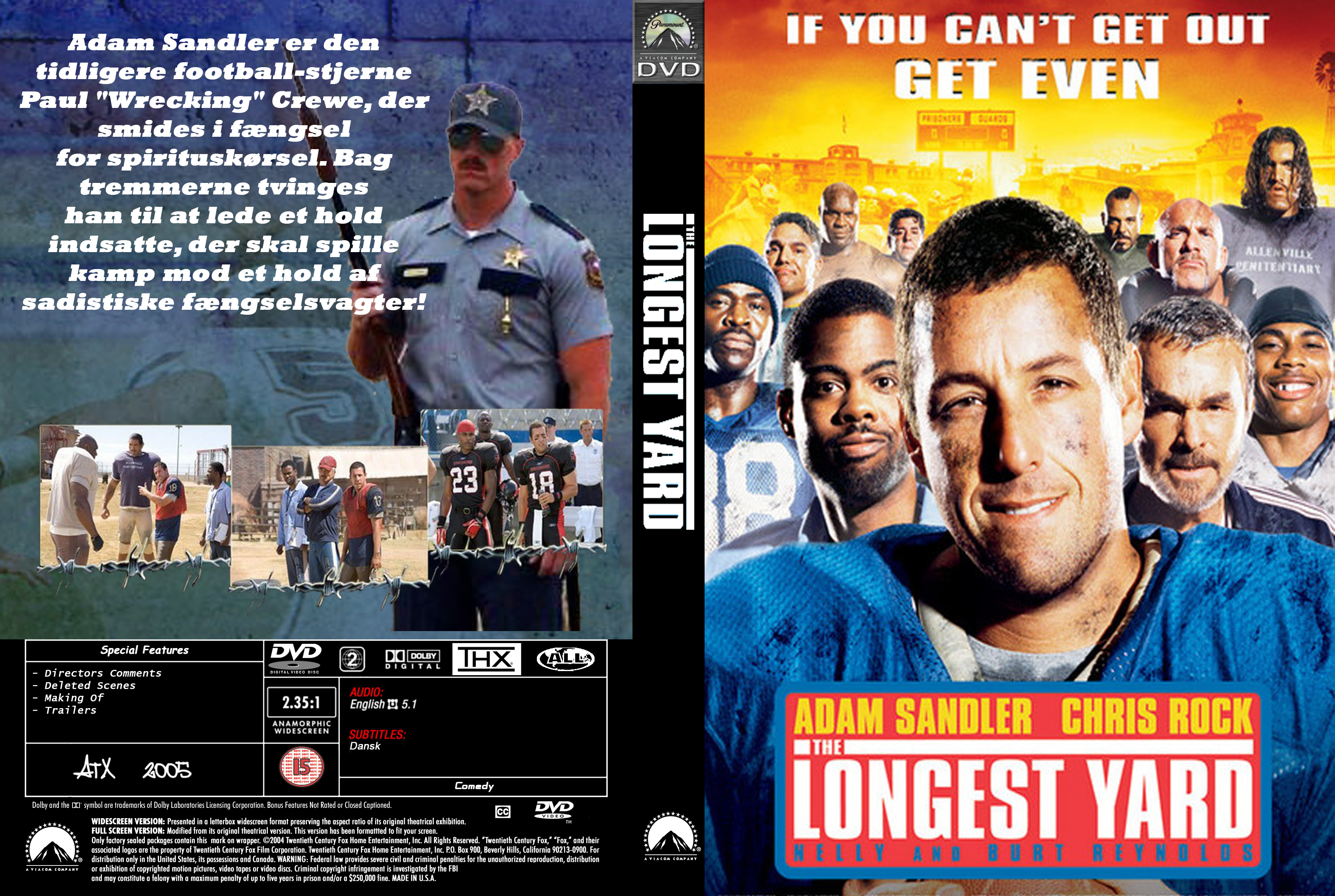 Covers Box Sk The Longest Yard 2005 High Quality Dvd Blueray Movie