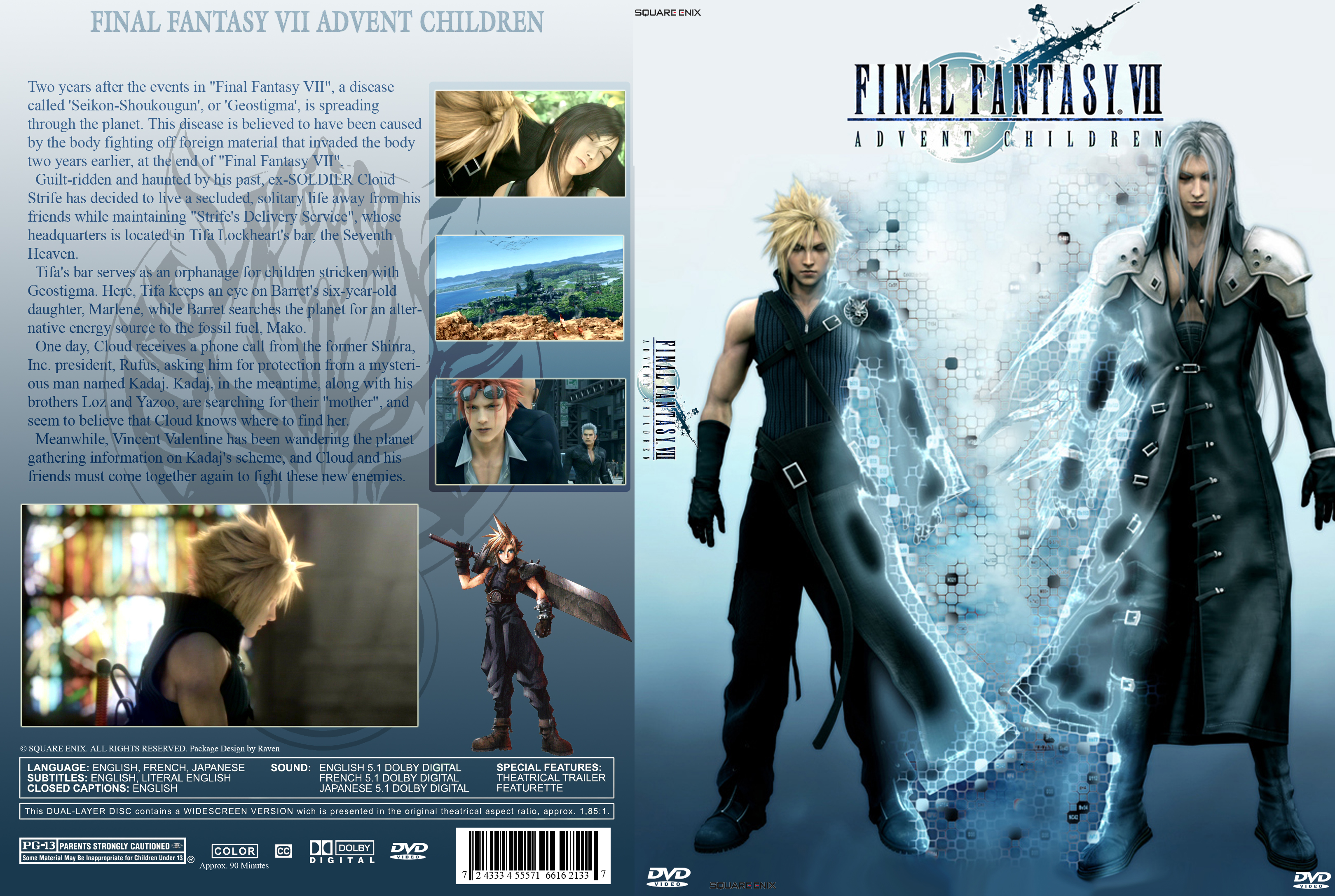 Covers Box Sk Final Fantasy Vii Advent Children 2004 High