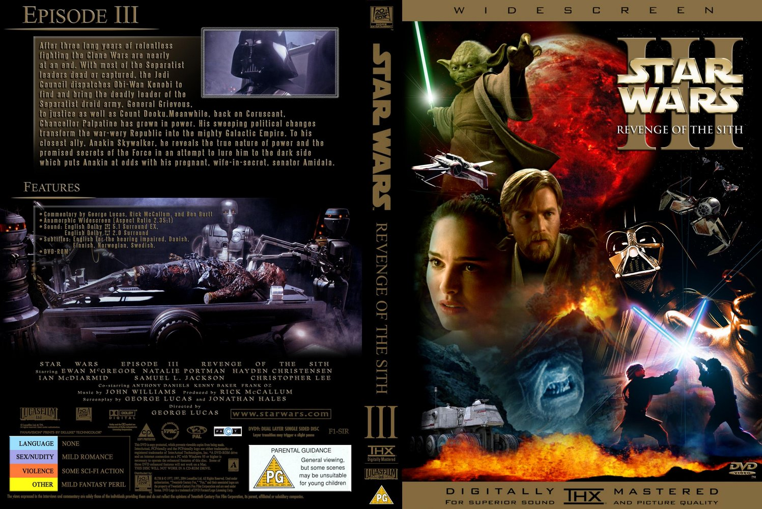 Covers Box Sk Episode 3 Revenge Of The Sith High Quality Dvd Blueray Movie