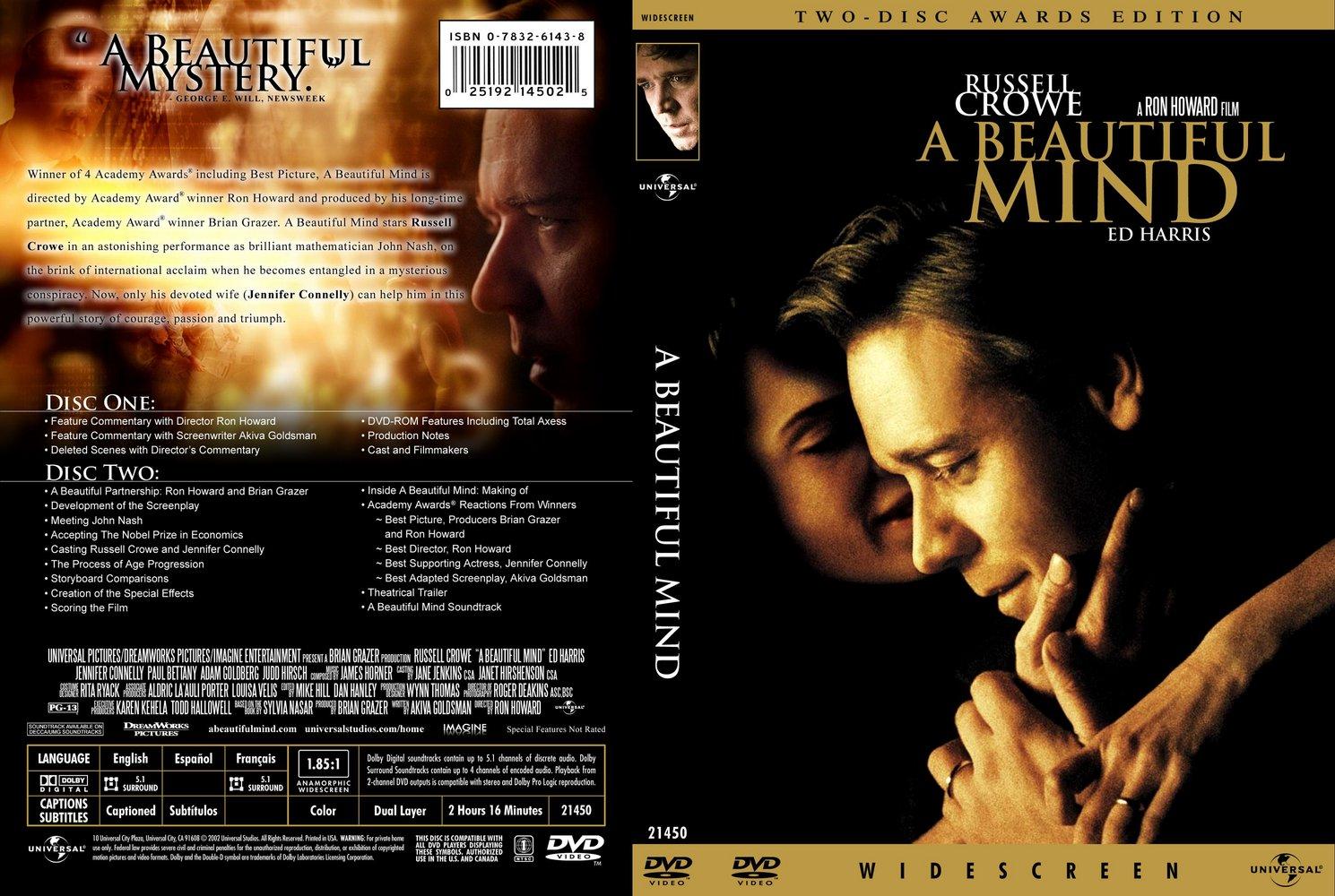 A Beautiful Mind 2001 WS SE R1 amp R4  Movie DVD  CD