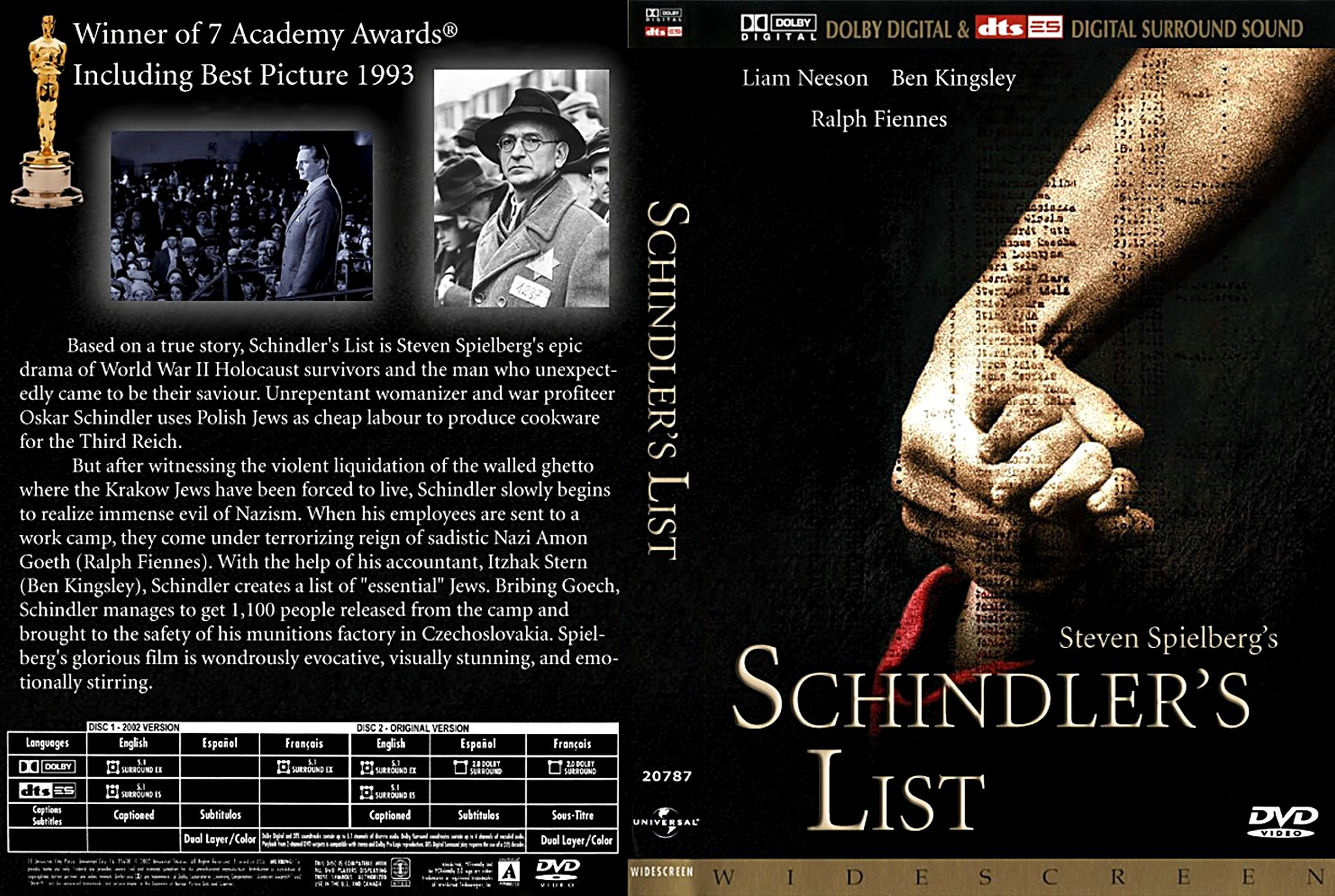 an analysis of the unkindness of the nazi party and the concept of schindlers list
