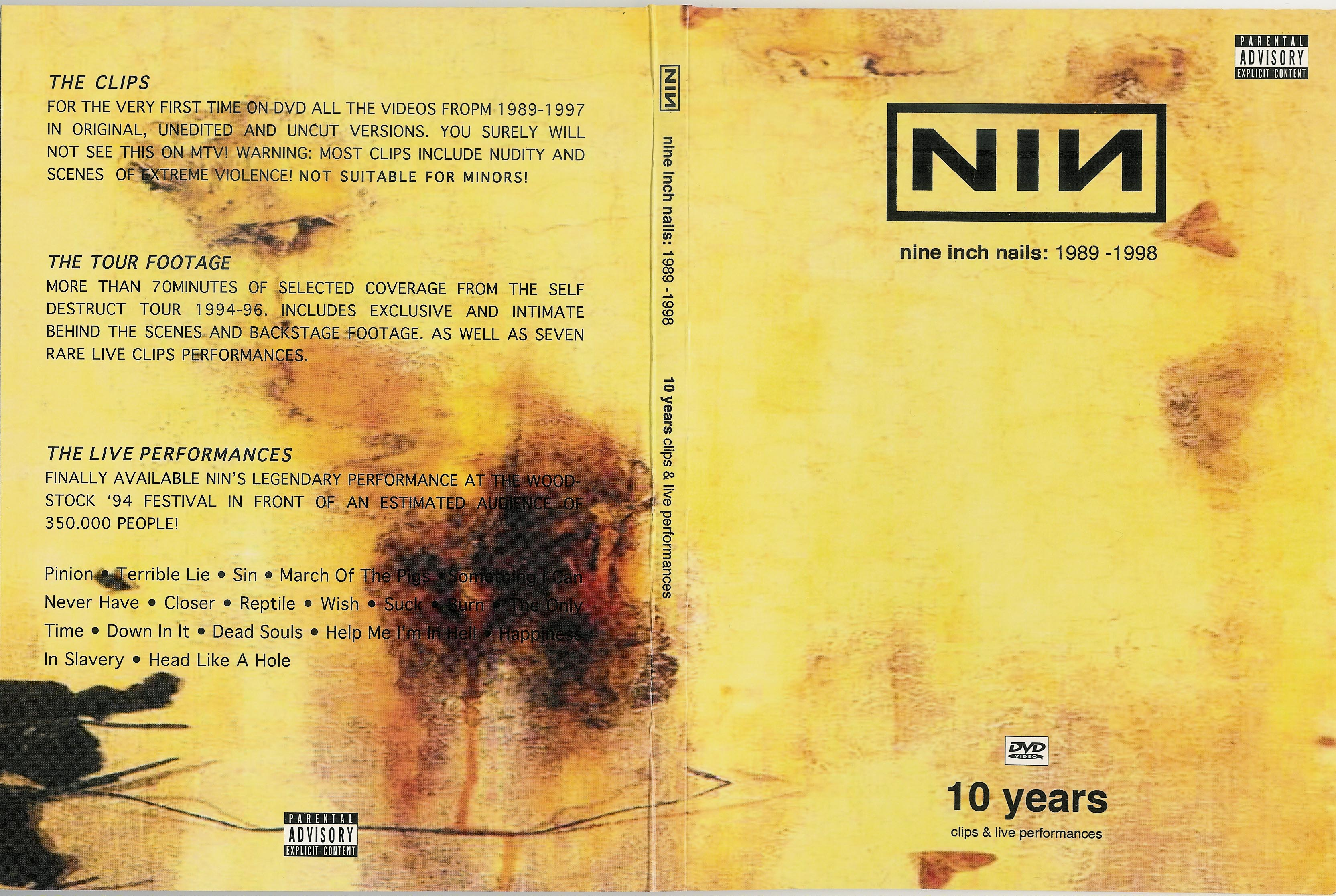 COVERS.BOX.SK ::: Nine Inch Nails - 10 years Of Videos And ...