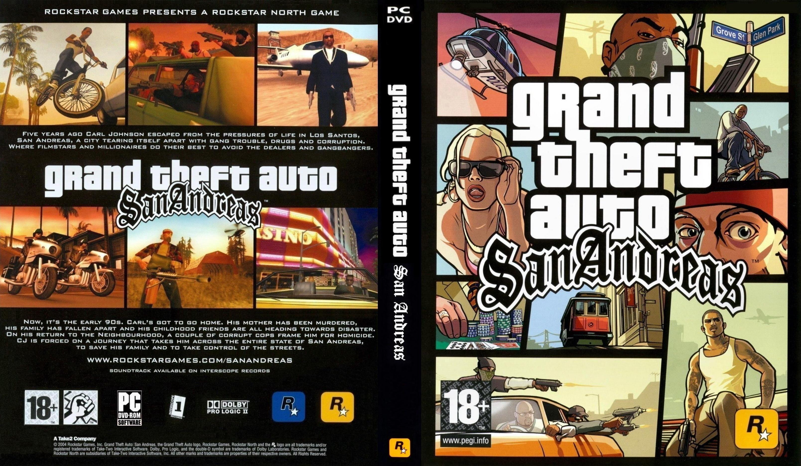 COVERS BOX SK ::: gta san andreas pc dvd cover - high