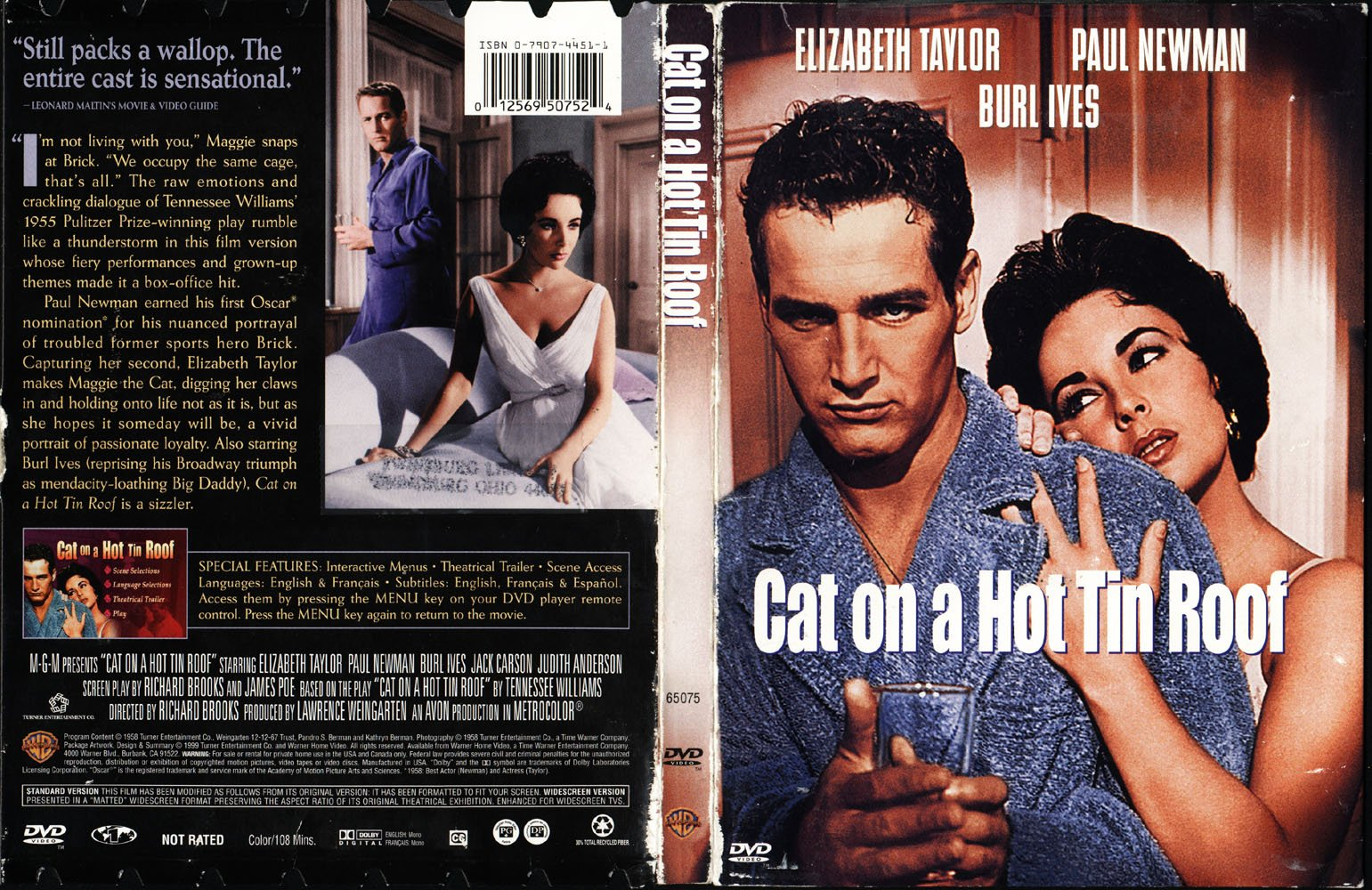 Cat On A Hot Tin Roof (1958)   Front