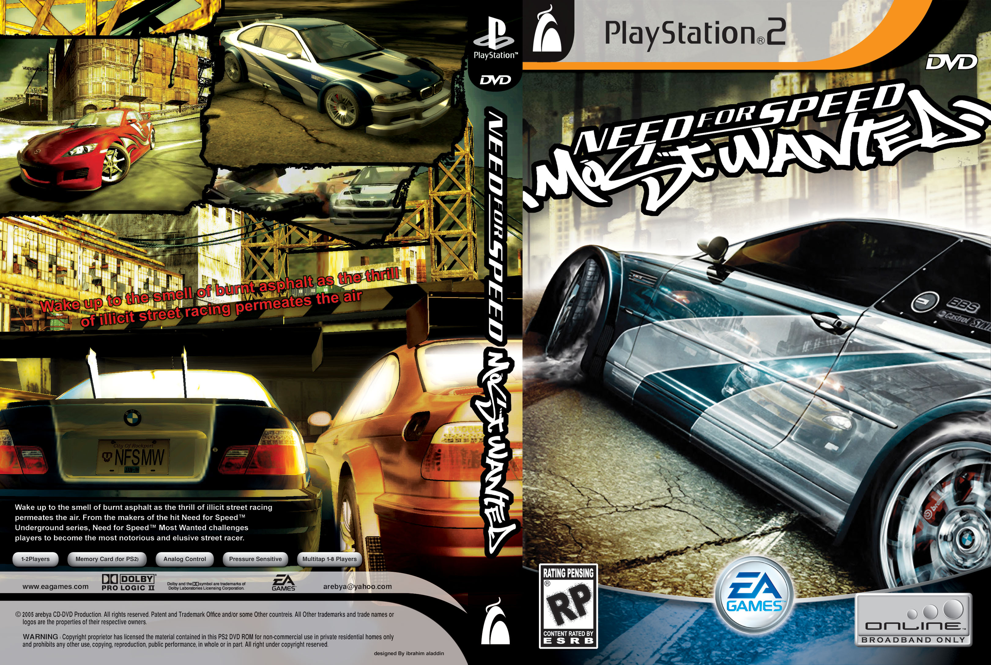 Covers Box Sk Need For Speed Most Wanted Ps2 English High Quality Dvd Blueray Movie
