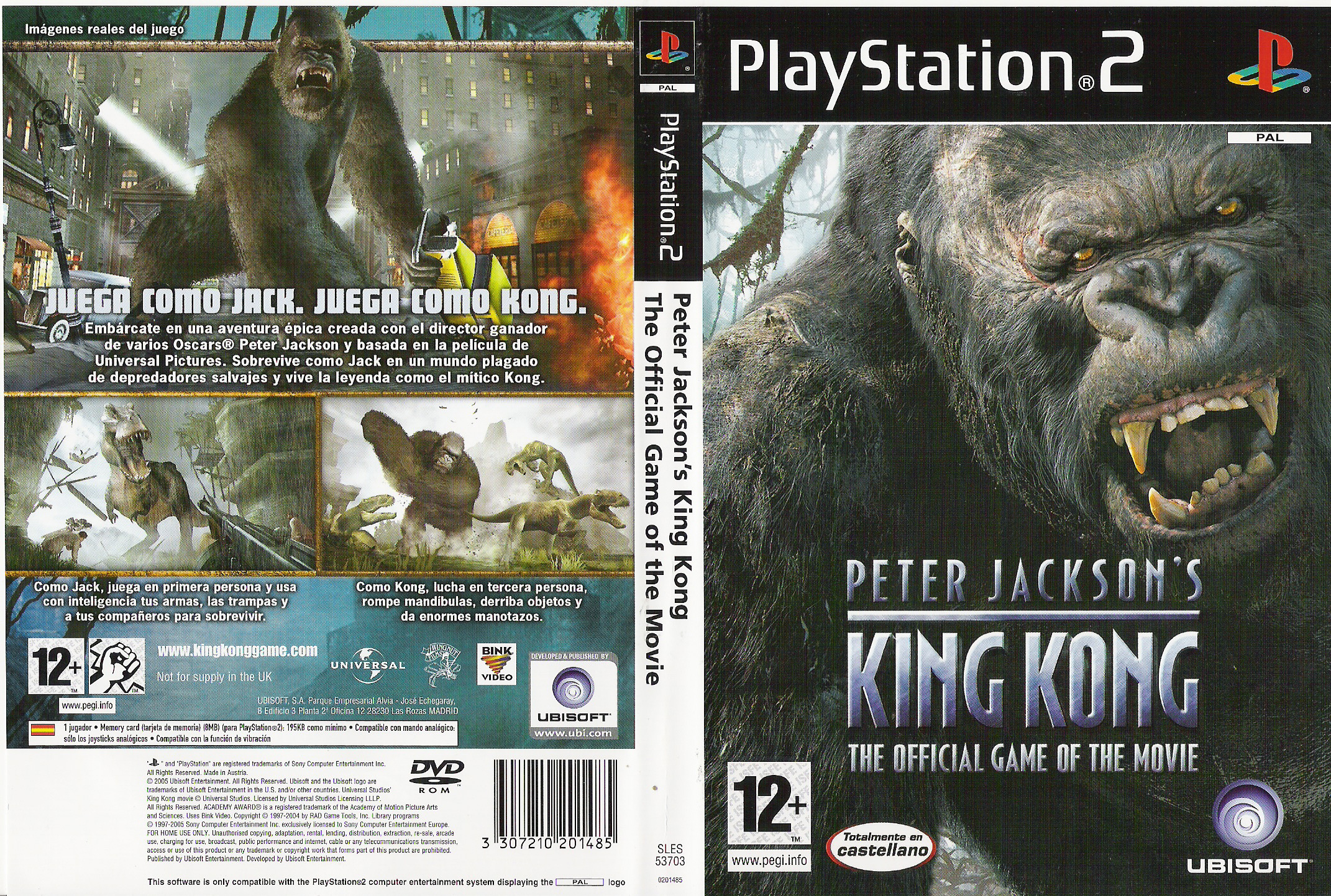 king kong (ps2) - front back