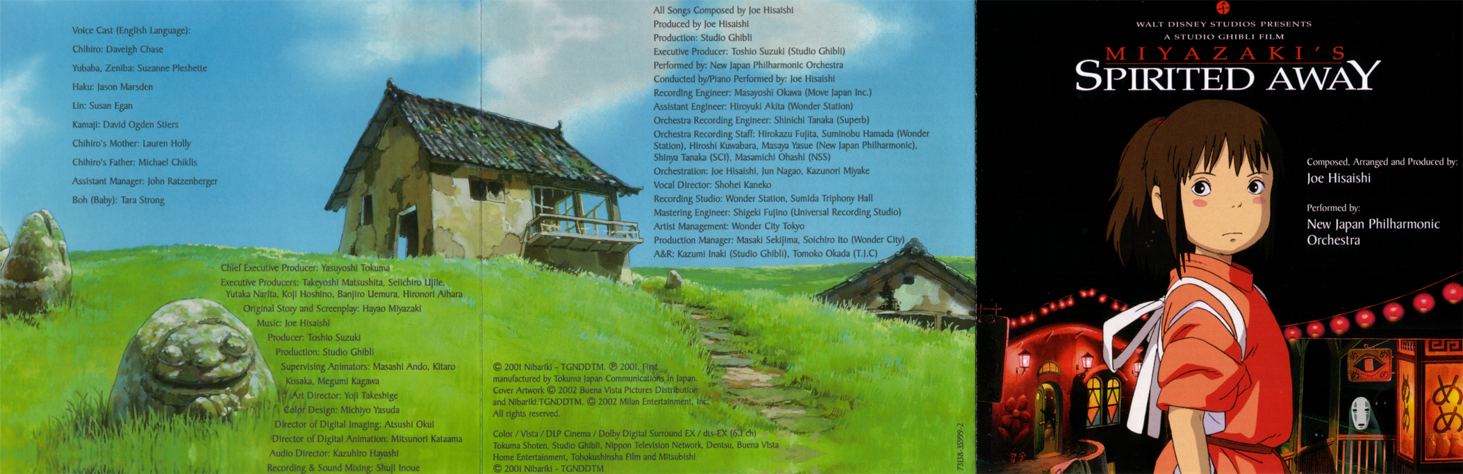 Covers Box Sk Spirited Away Soundtrack High Quality Dvd Blueray Movie