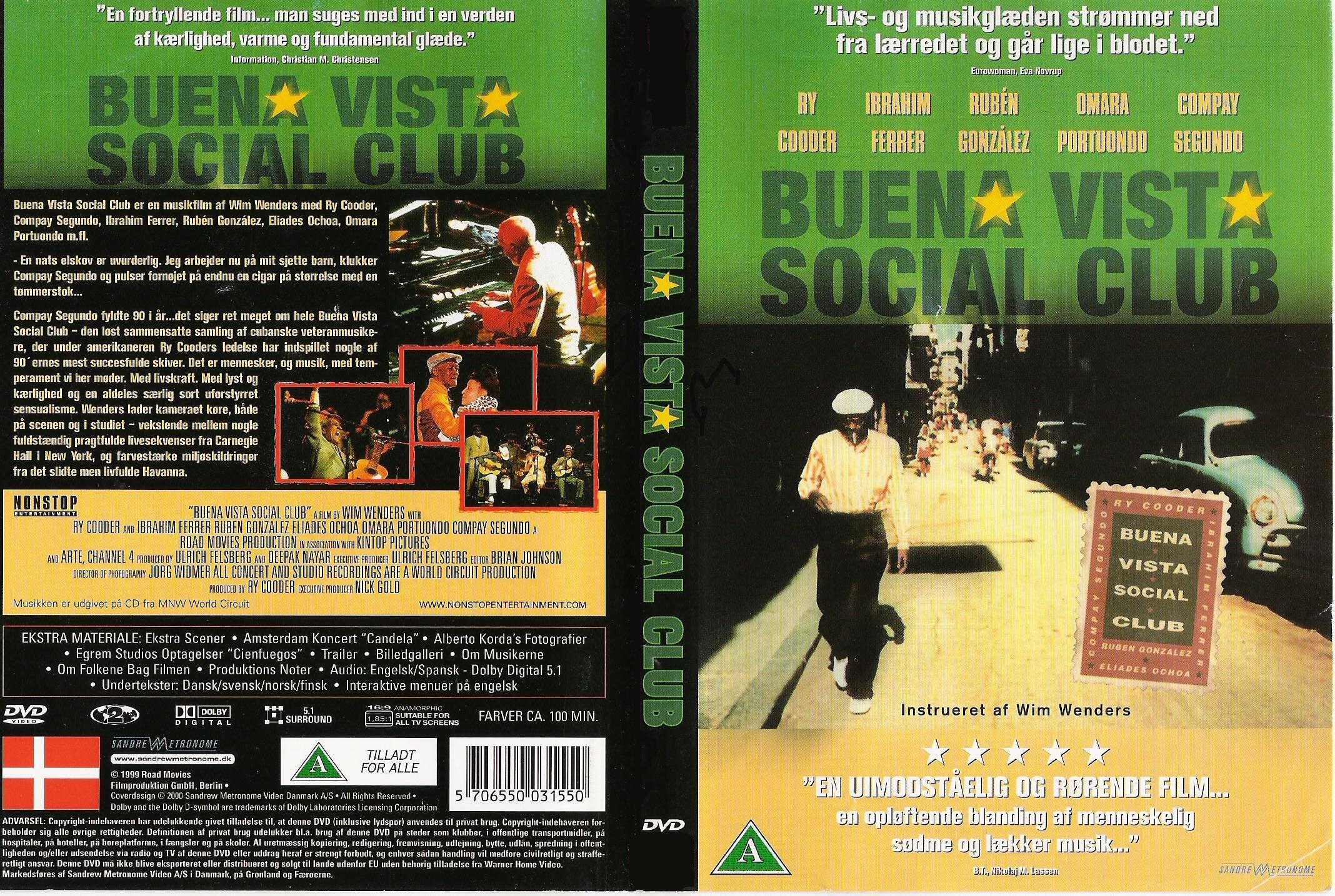 Covers Box Sk Buena Vista Social Club 1999 High Quality Dvd Blueray Movie