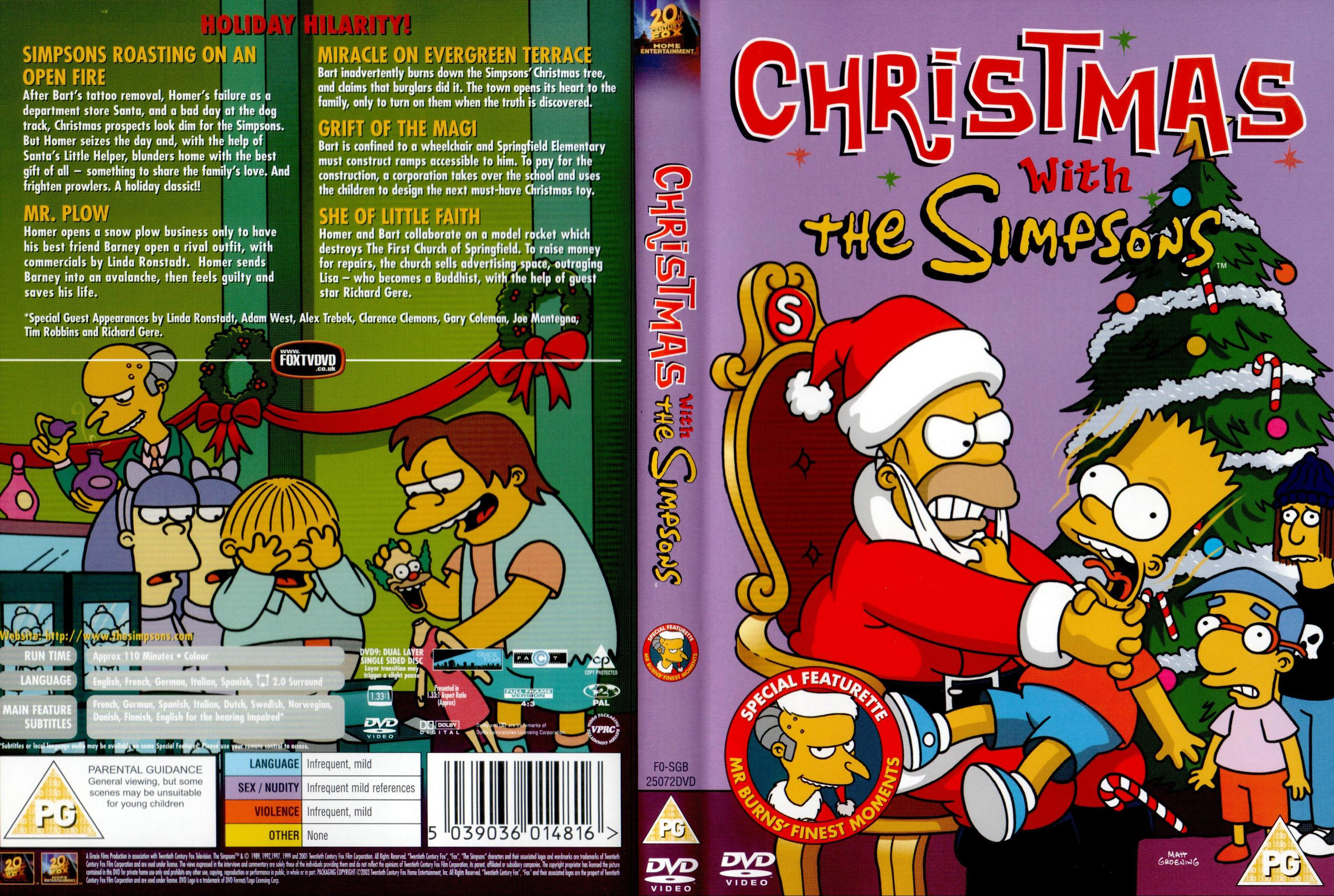 The Simpsons Christmas Dvd.Covers Box Sk Christmas With The Simpsons High Quality