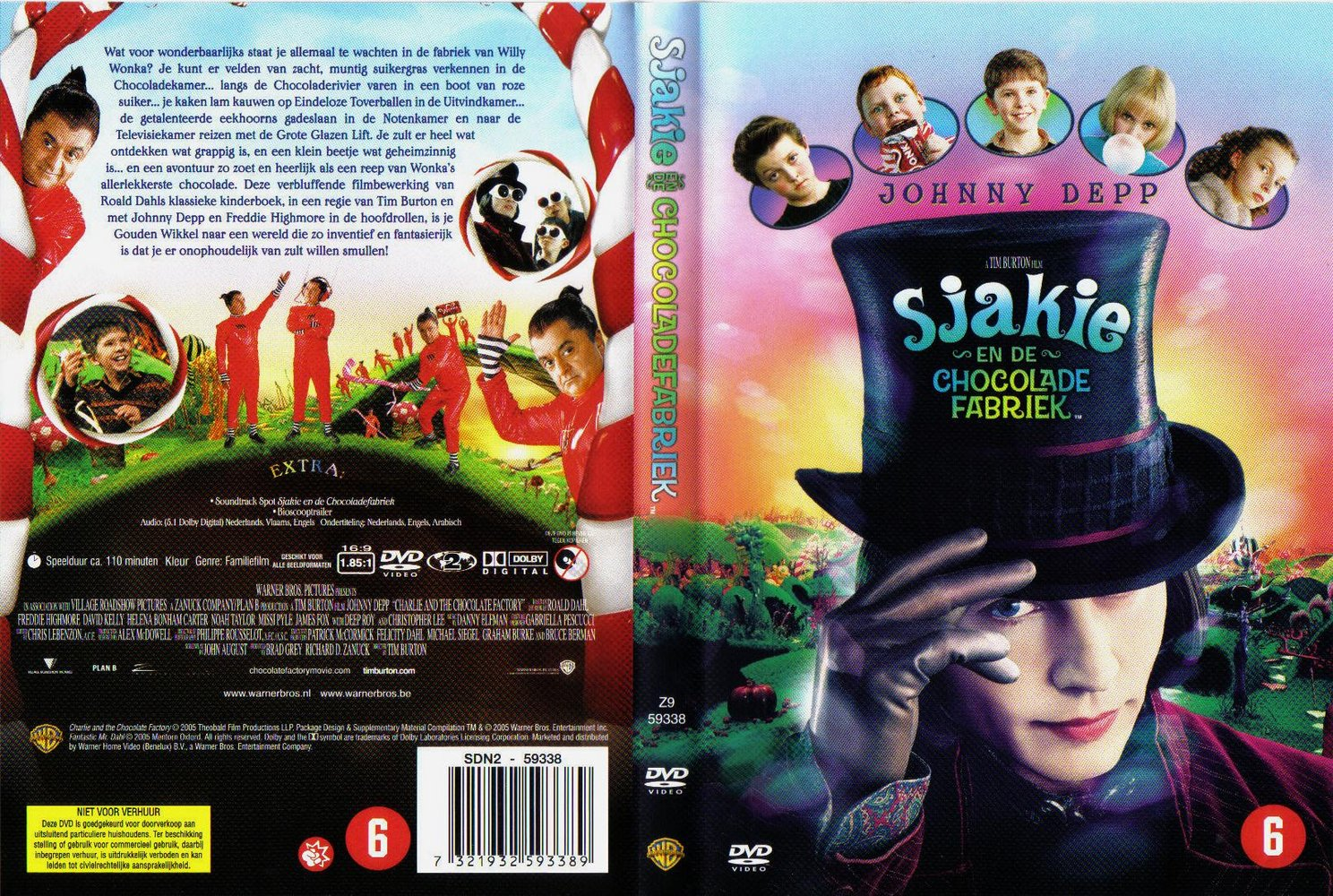 Charlie And The Chocolate Factory Dvd Case