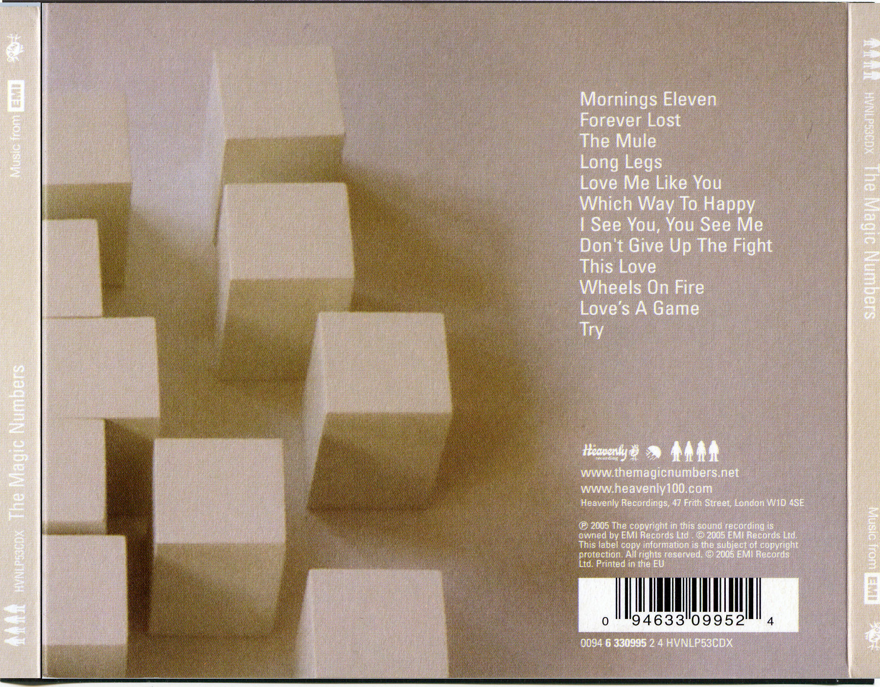 COVERS BOX SK ::: magic numbers - the magic numbers front