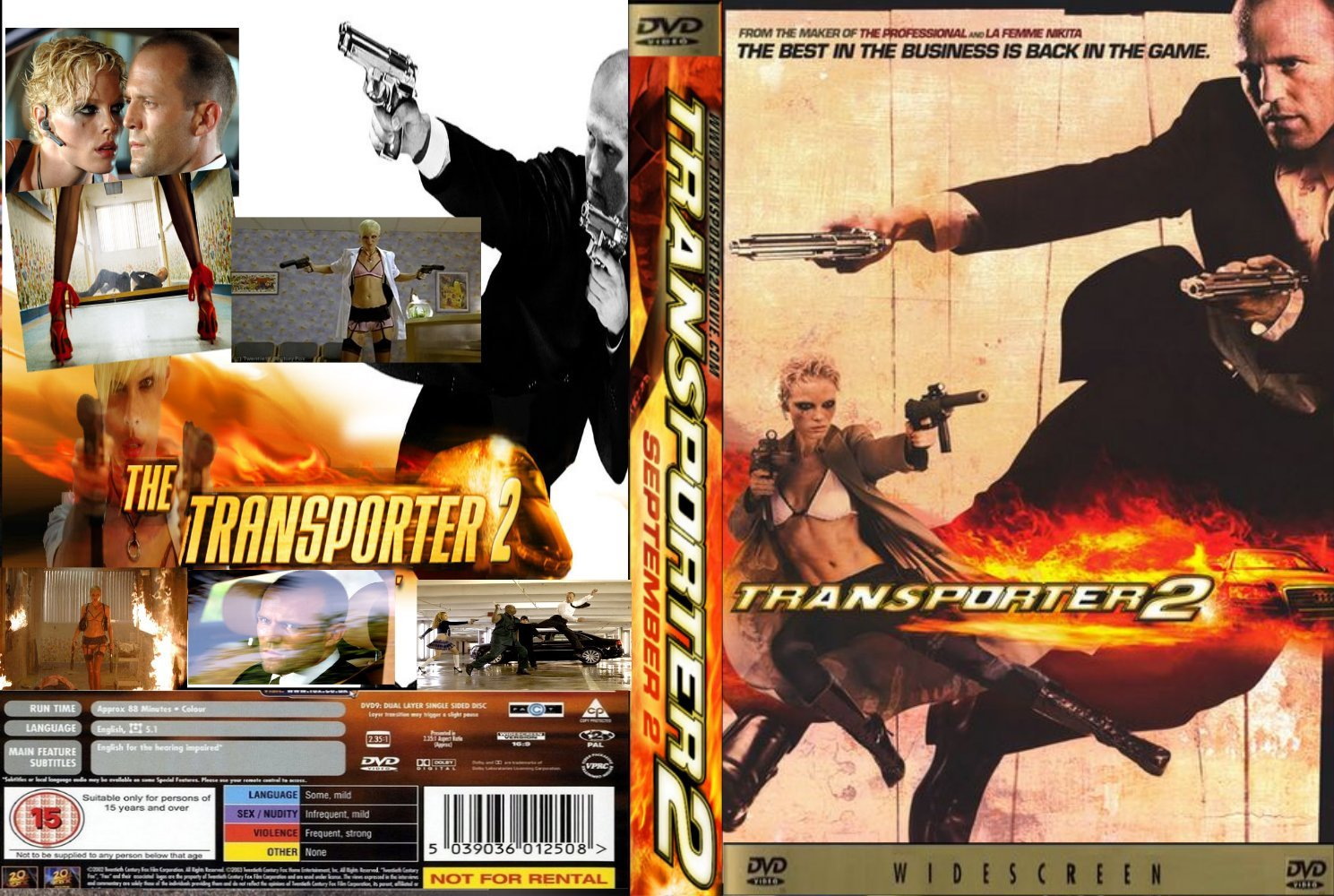 Transporter 2 blu-ray label - DVD Covers & Labels by ... |Transporter 2 Dvd Cover