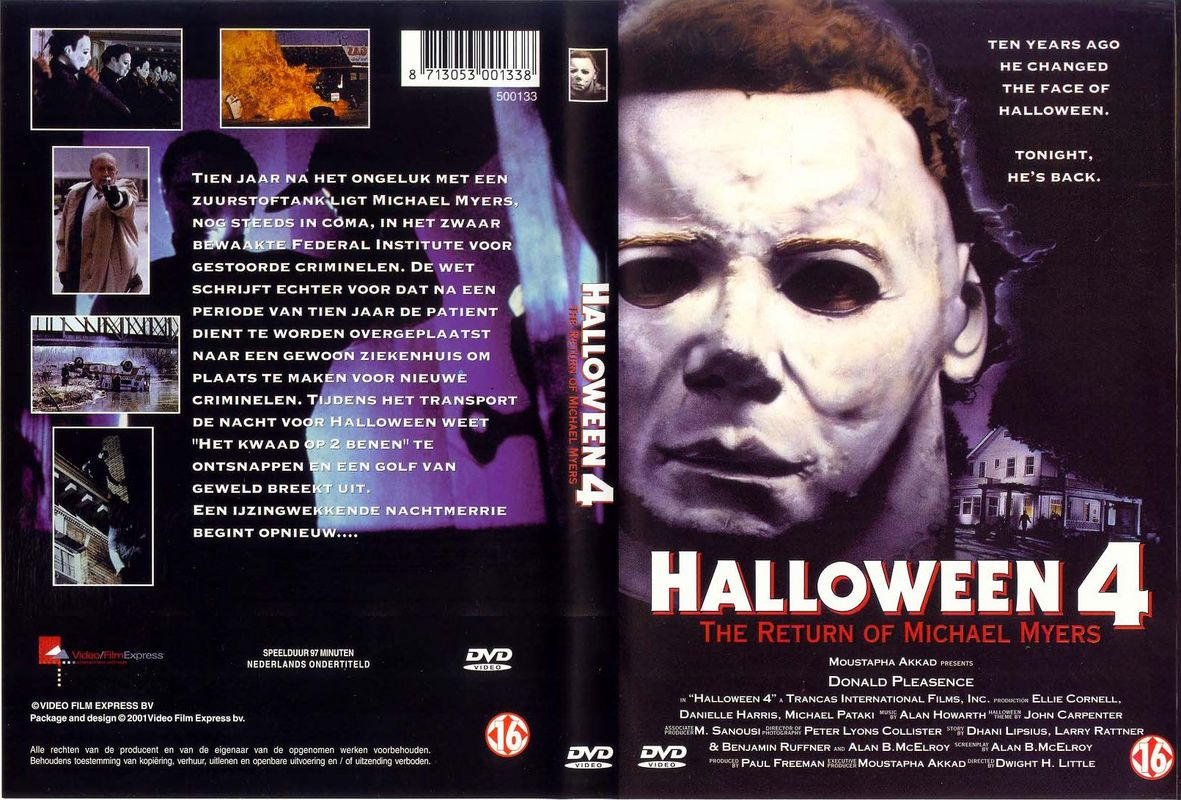 COVERS.BOX.SK ::: Halloween - 4 - high quality DVD / Blueray / Movie