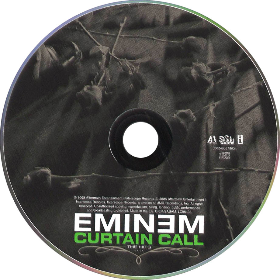 Covers box sk eminem curtain call the hits high quality dvd