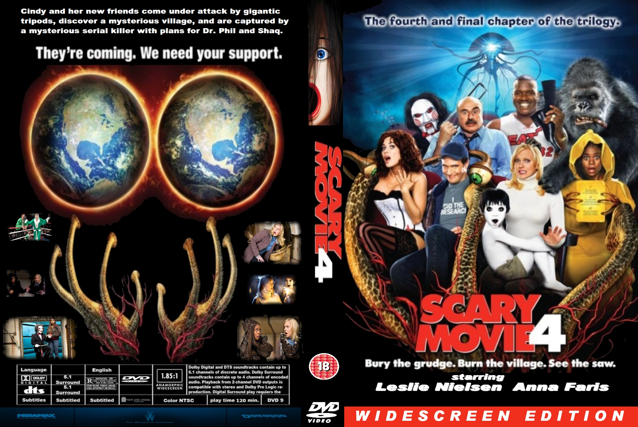 Covers Box Sk Scary Movie 4 Uk High Quality Dvd Blueray Movie