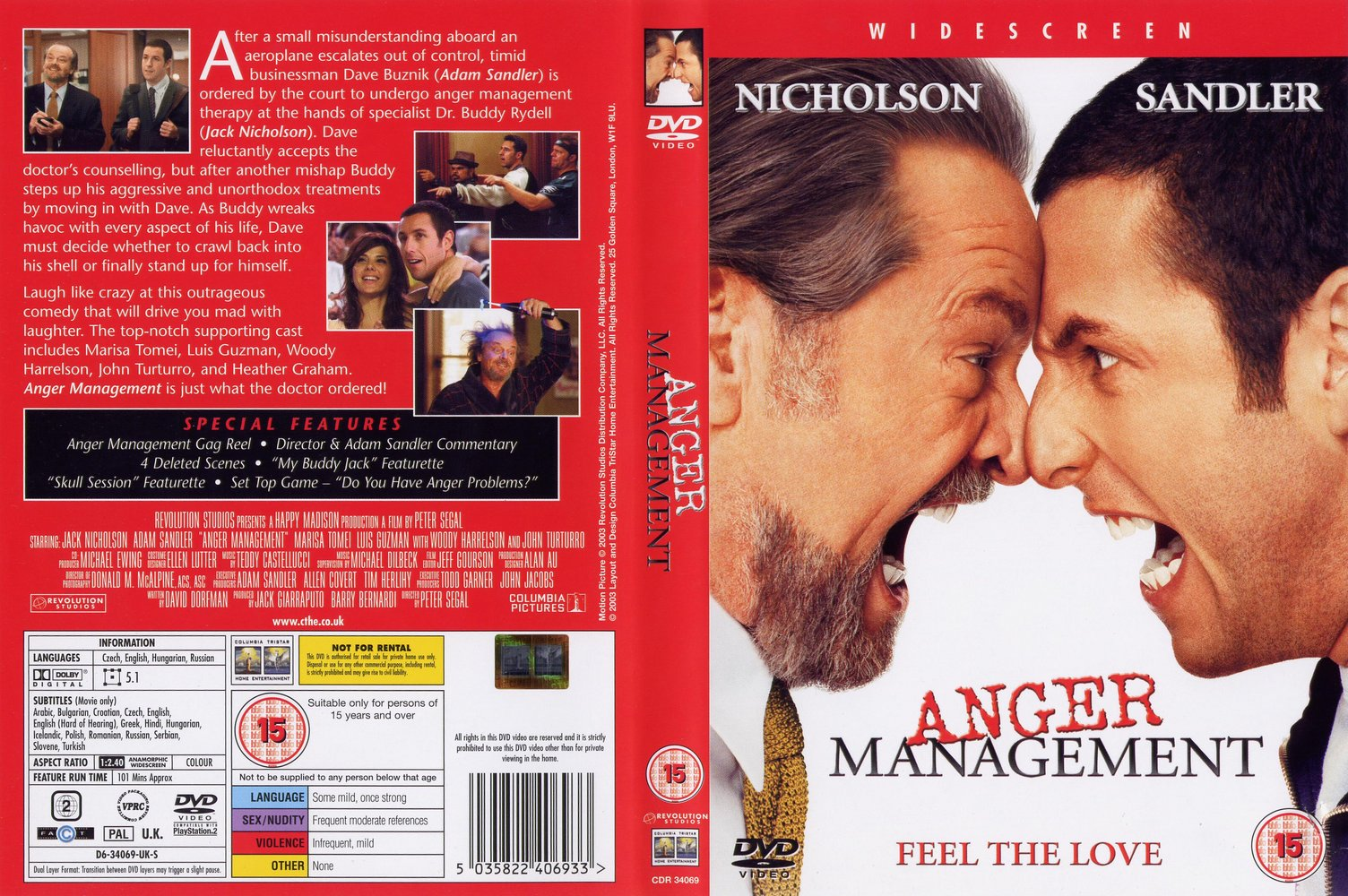 Covers Box Sk Anger Management High Quality Dvd Blueray Movie