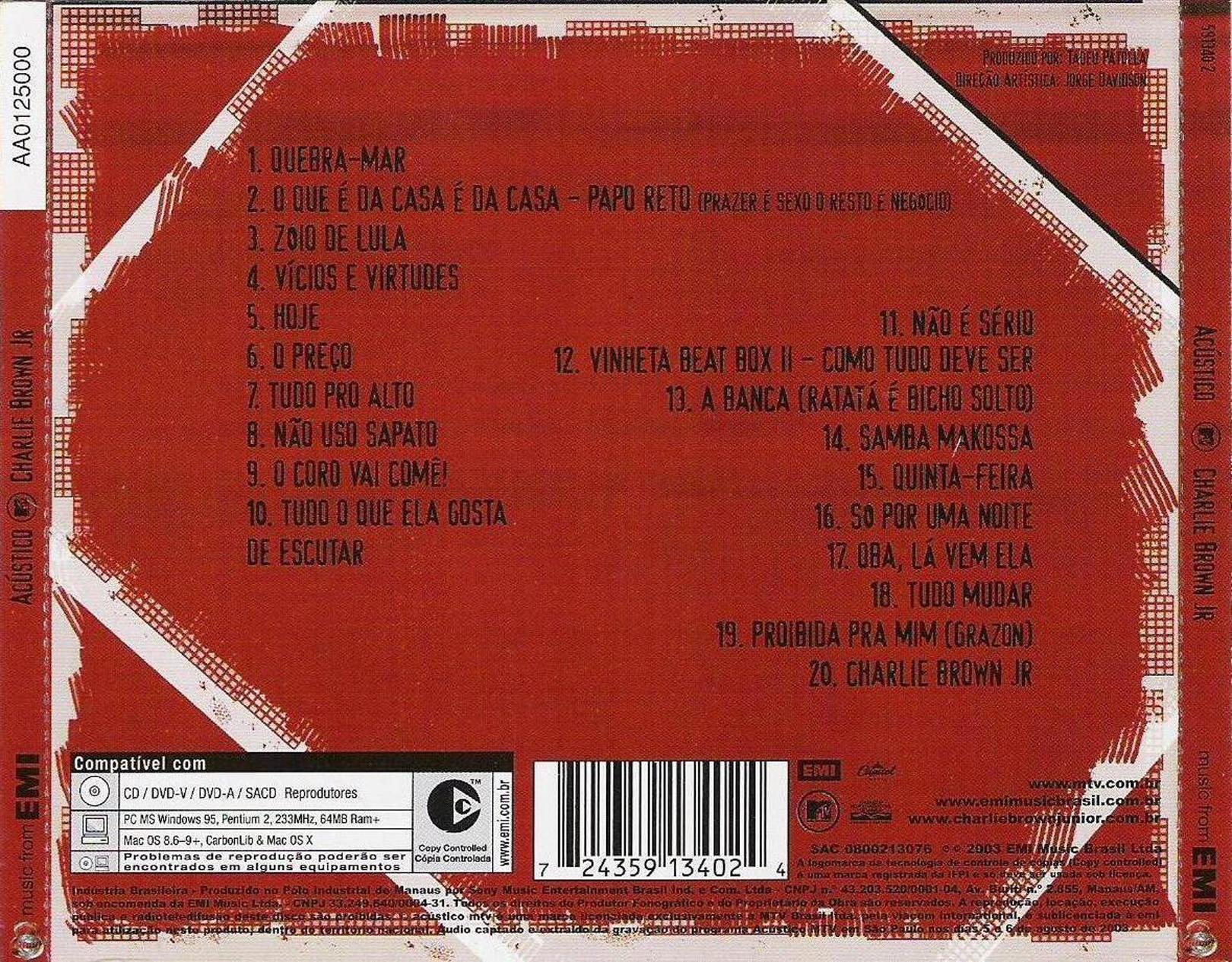 Charlie brown jr. (acústico ao vivo) completo [hq] [download na.