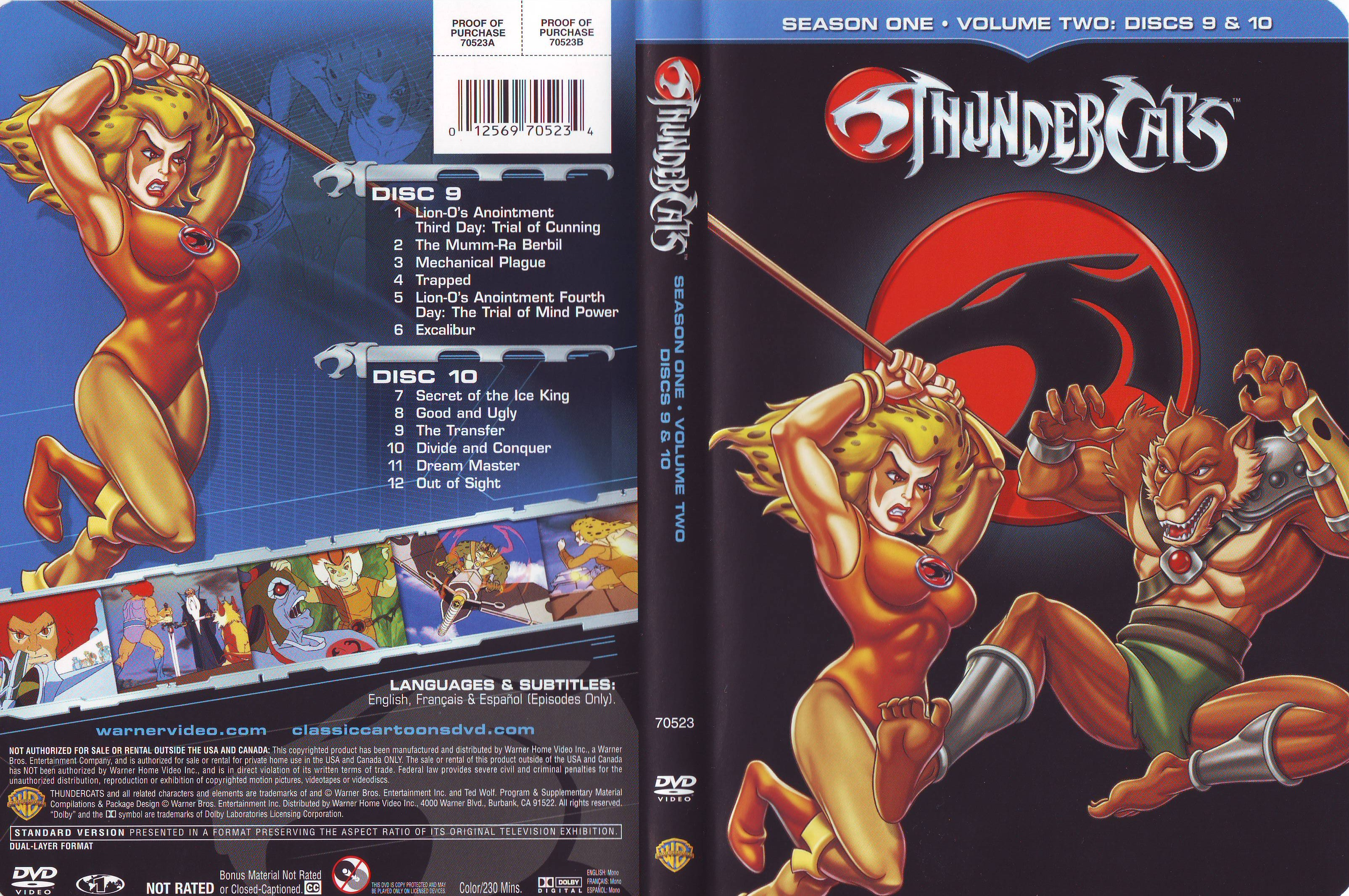 COVERS BOX SK ::: Thundercats - Season 01 - Volumen 02 - Discos 09