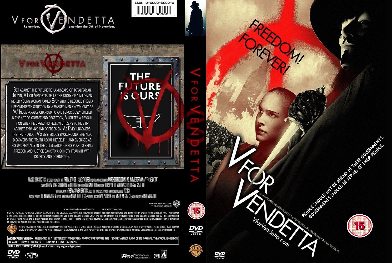 V For Vendetta Movie Cover COVERS.BOX.SK ::: v fo...