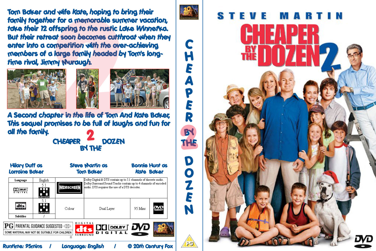 Covers Box Sk Cheaper By The Dozen 2 2003 High Quality Dvd Blueray Movie