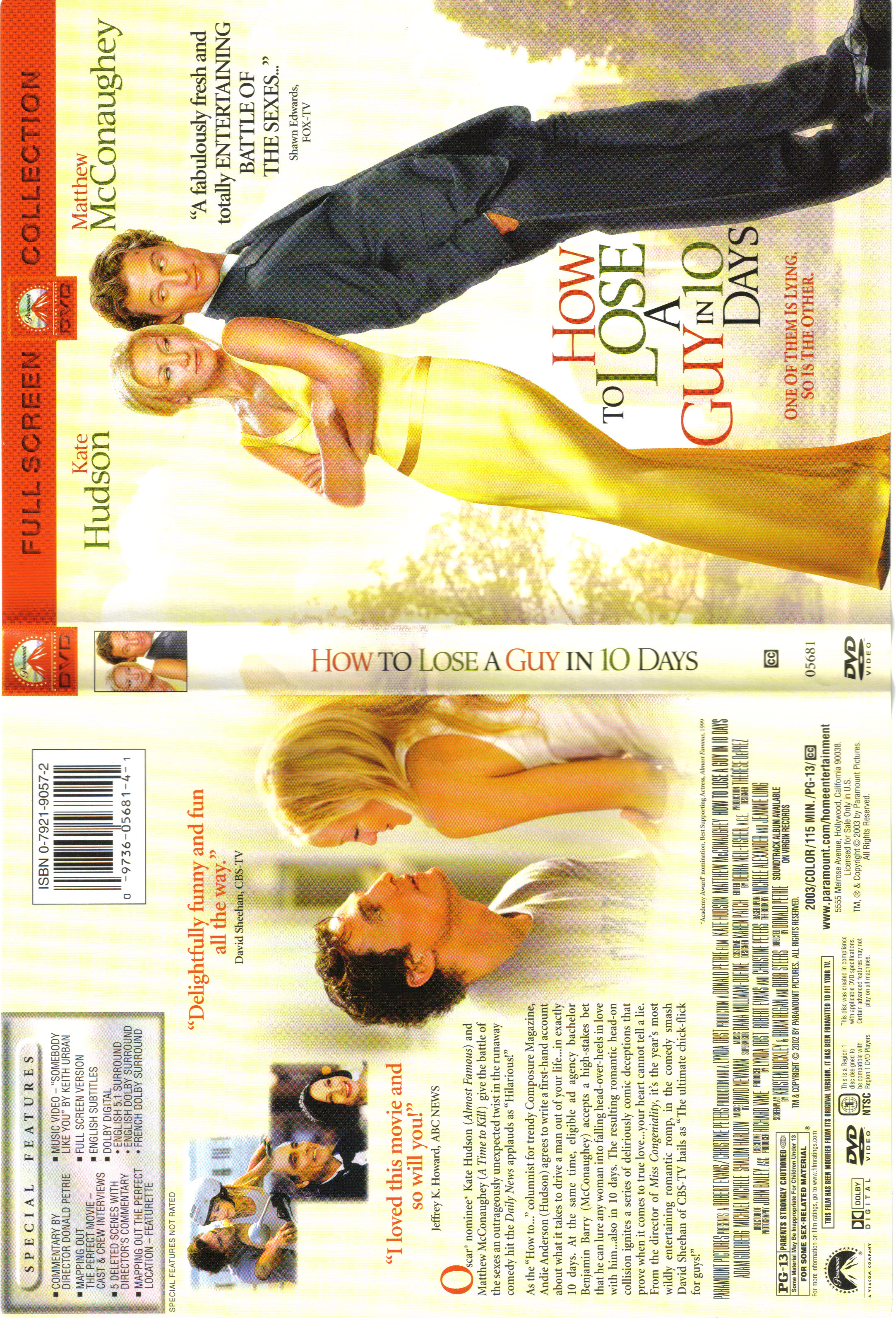 Covers Box Sk How To Lose A Guy In 10 Days 2003 High Quality Dvd Blueray Movie