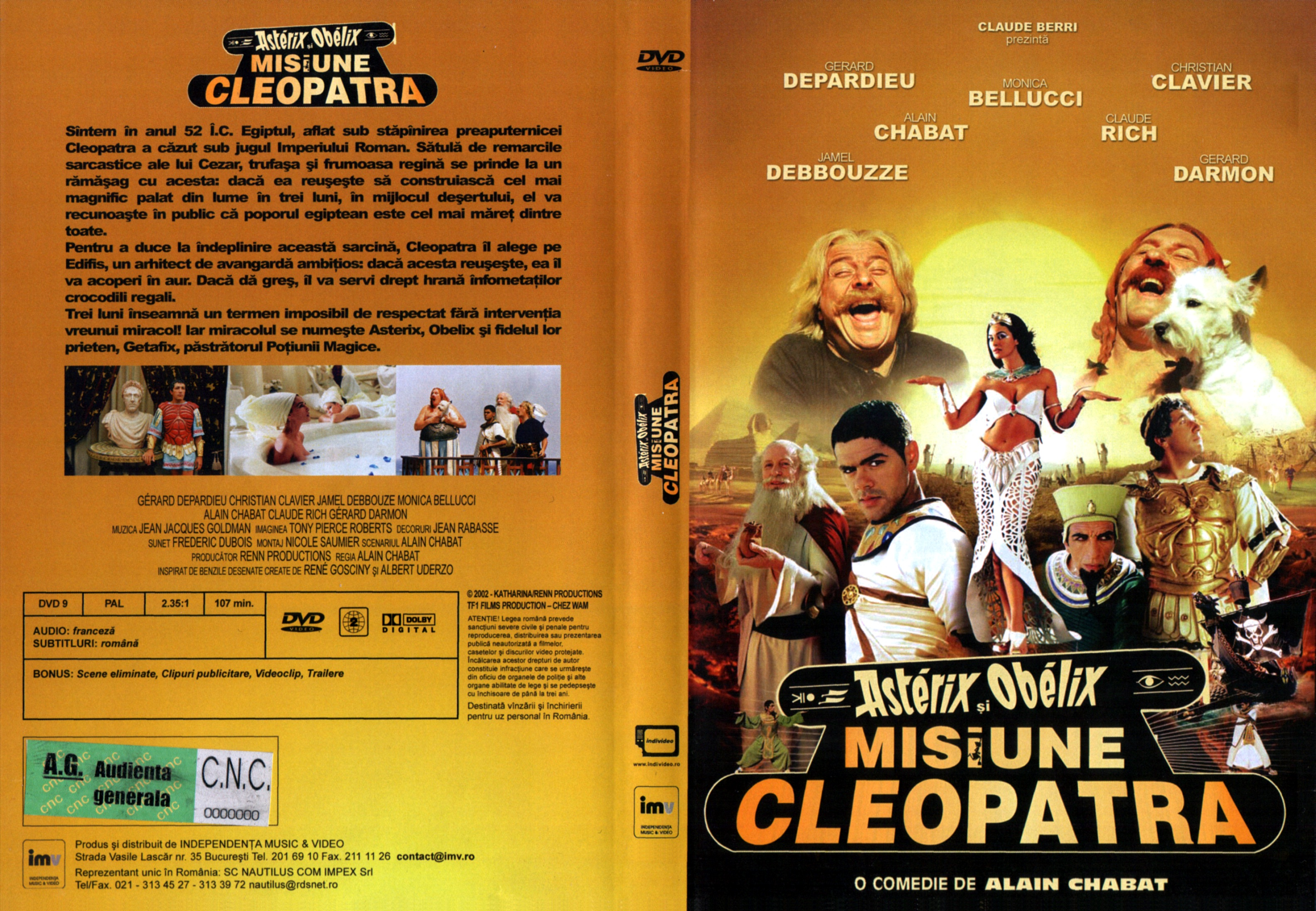 Covers Box Sk Asterix Obelix Mission Cleopatra High Quality Dvd Blueray Movie