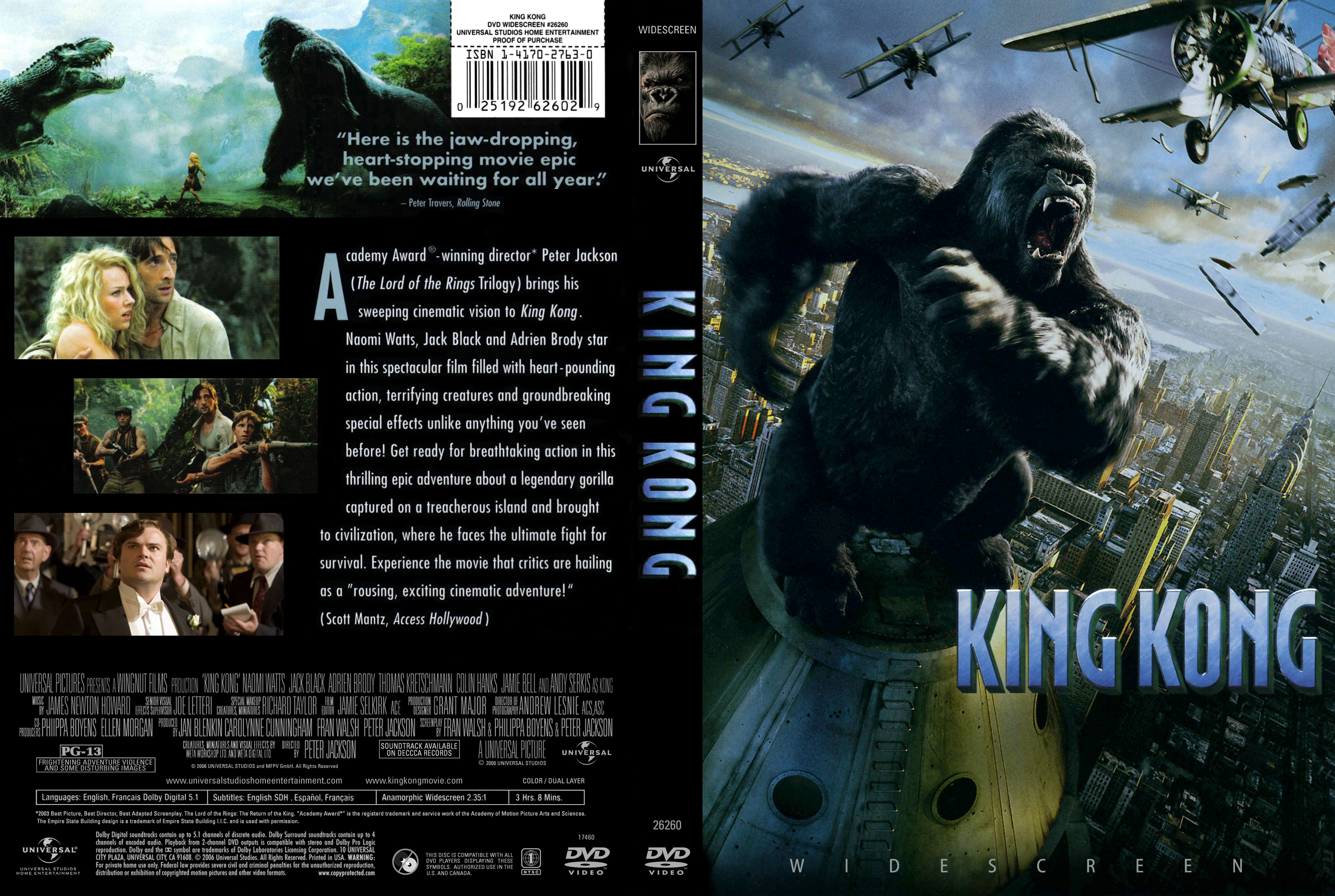 Amazoncom King Kong Widescreen Edition Naomi Watts