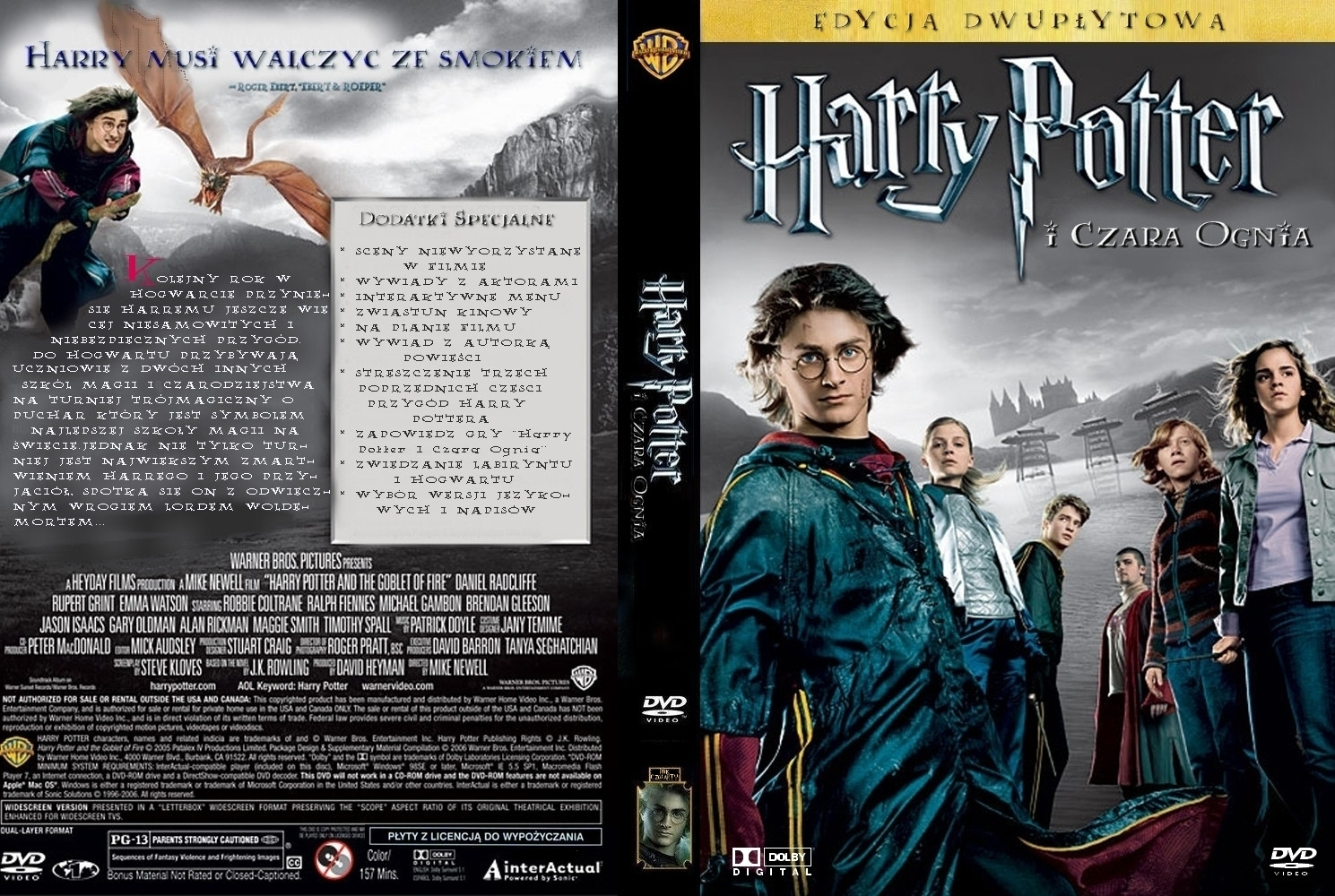 Covers Box Sk Harry Potter And The Goblet Of Fire 2005 High Quality Dvd Blueray Movie